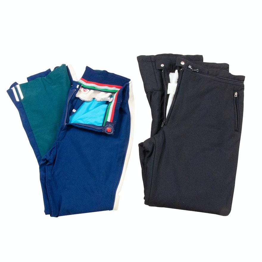 Men's Colmar and Bogner Ski Pants, Vintage
