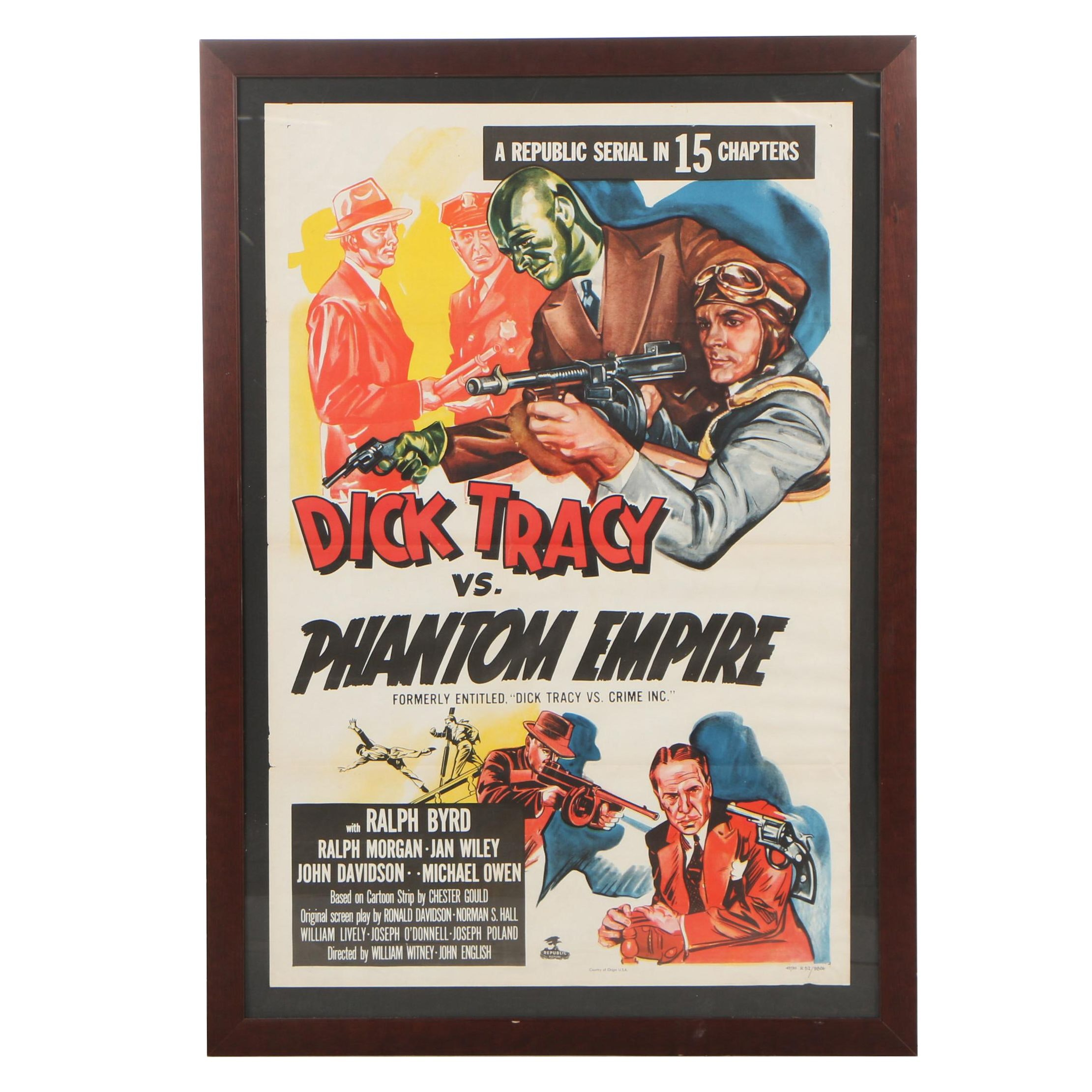 """Dick Tracy vs. Phantom Empire"" Re-Release One Sheet Poster, 1952"