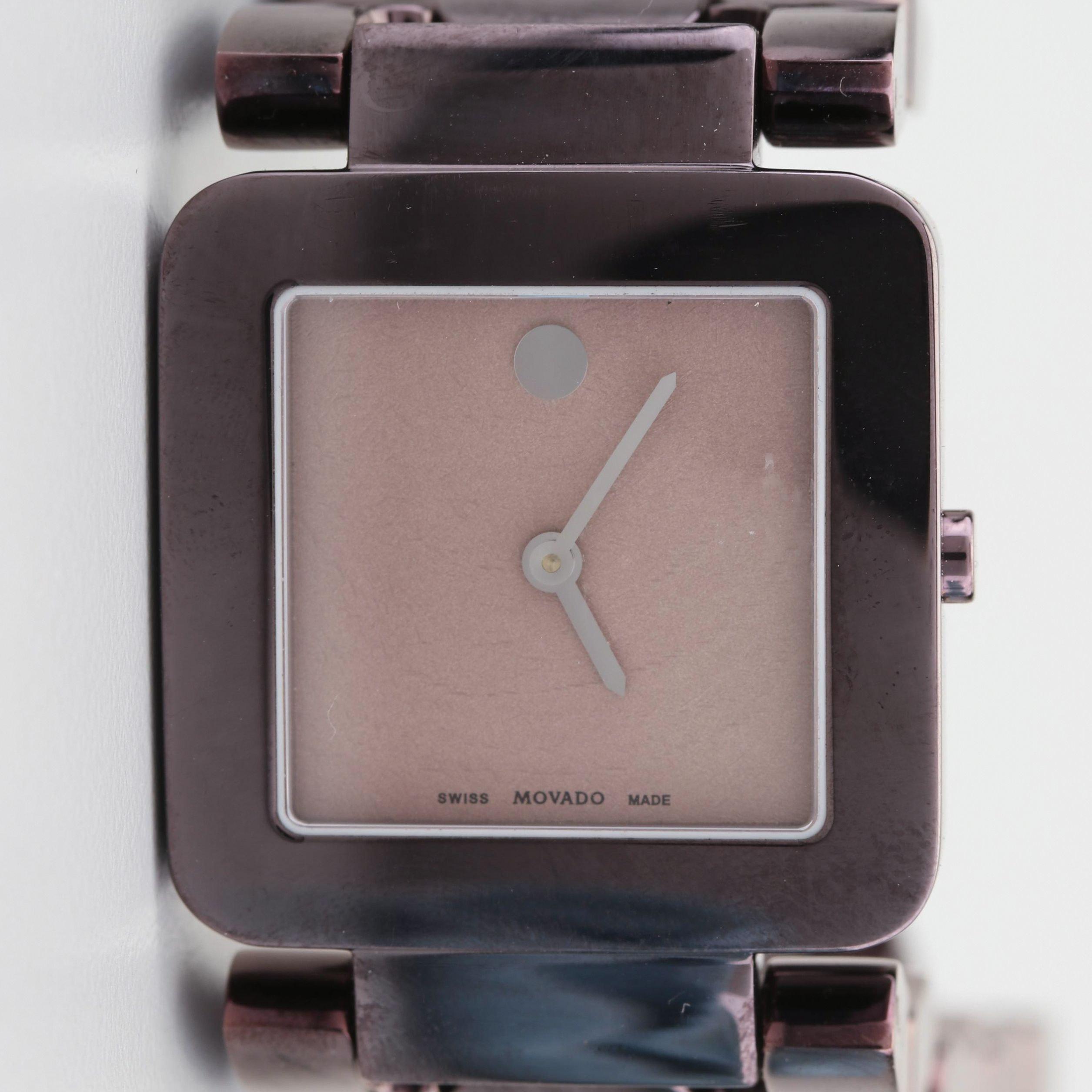Movado Luma Stainless Steel Wristwatch