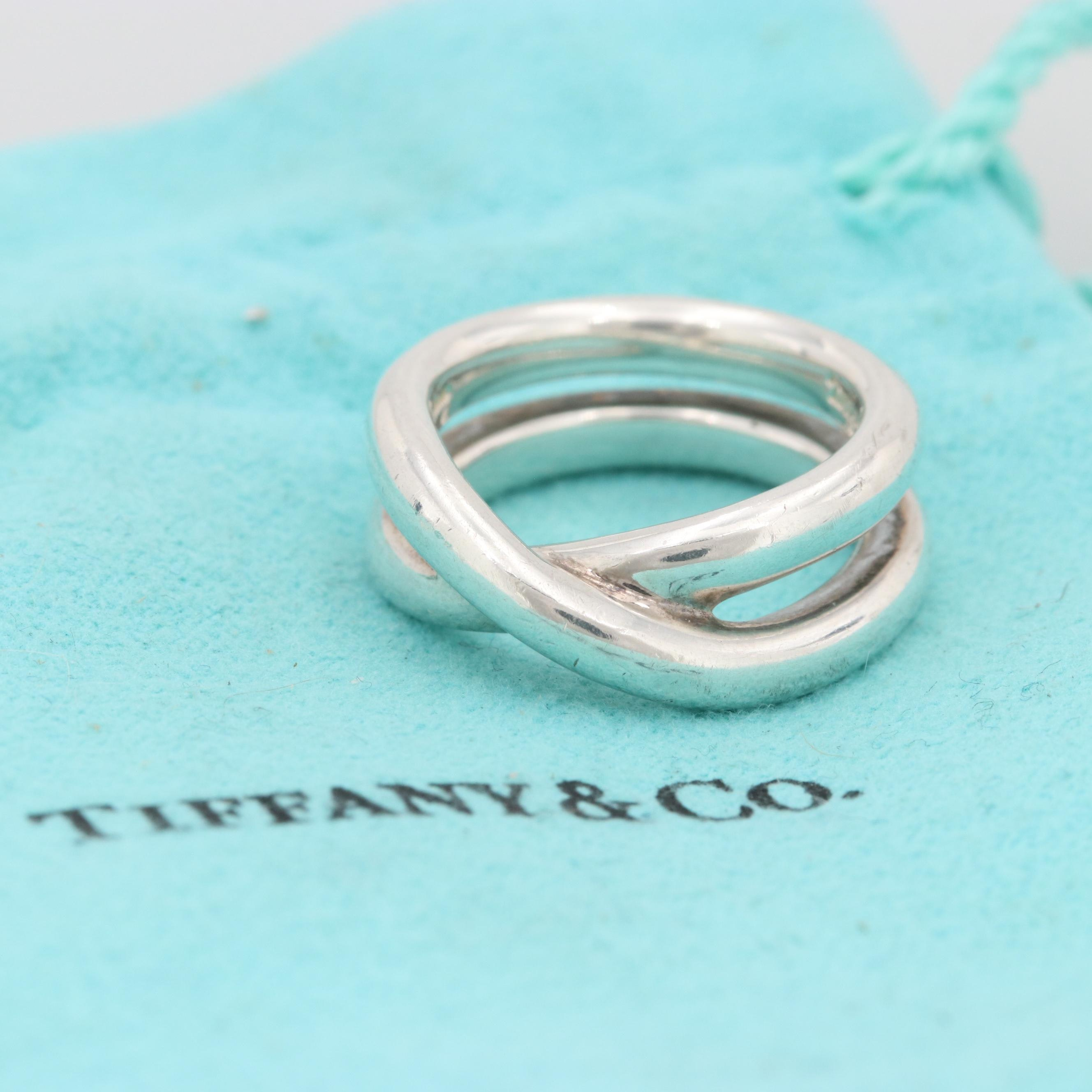 Paloma Picasso for Tiffany & Co. Sterling Silver Le Cercle Crossover Ring