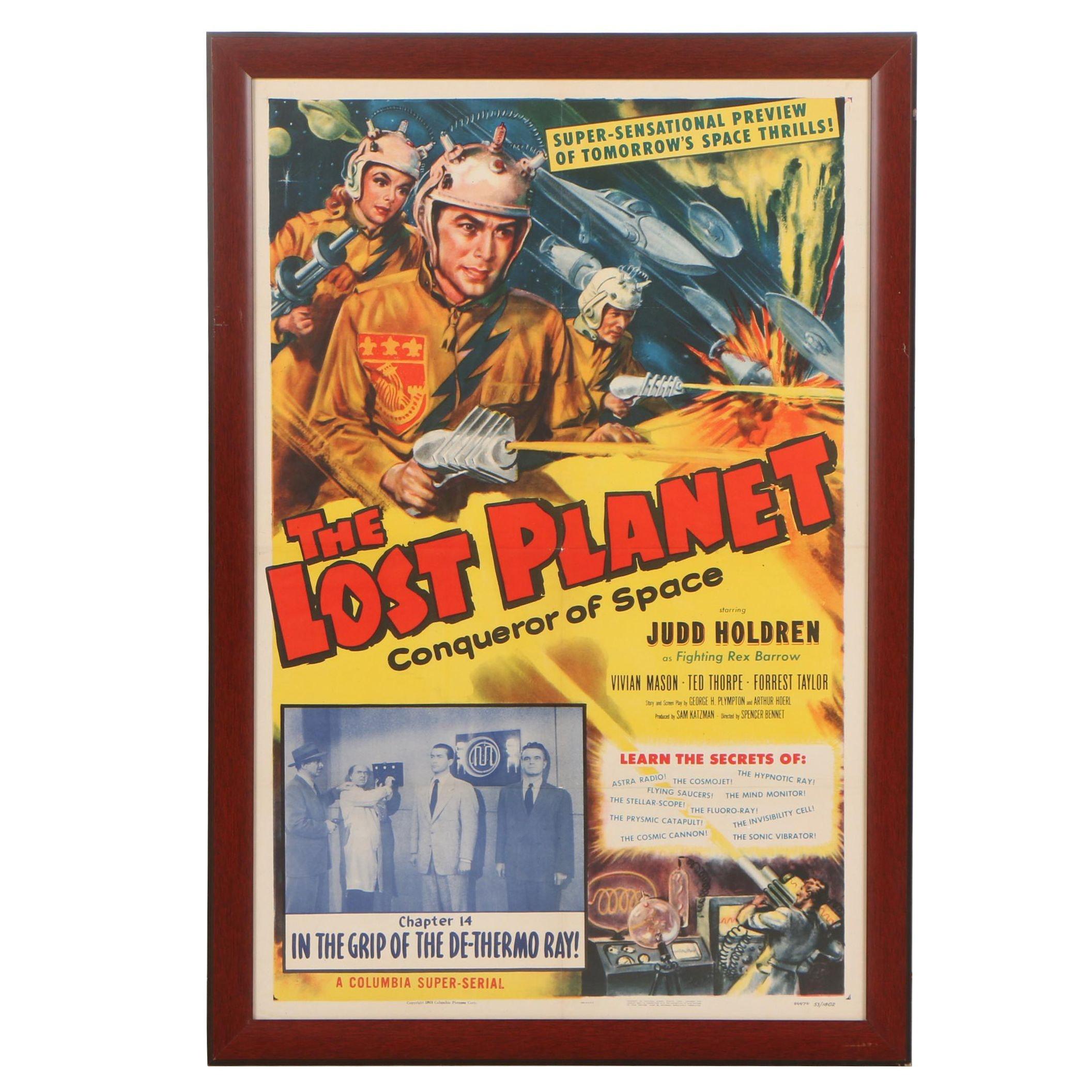 """The Lost Planet"" Serial Theatrical Release One Sheet Poster, 1953"