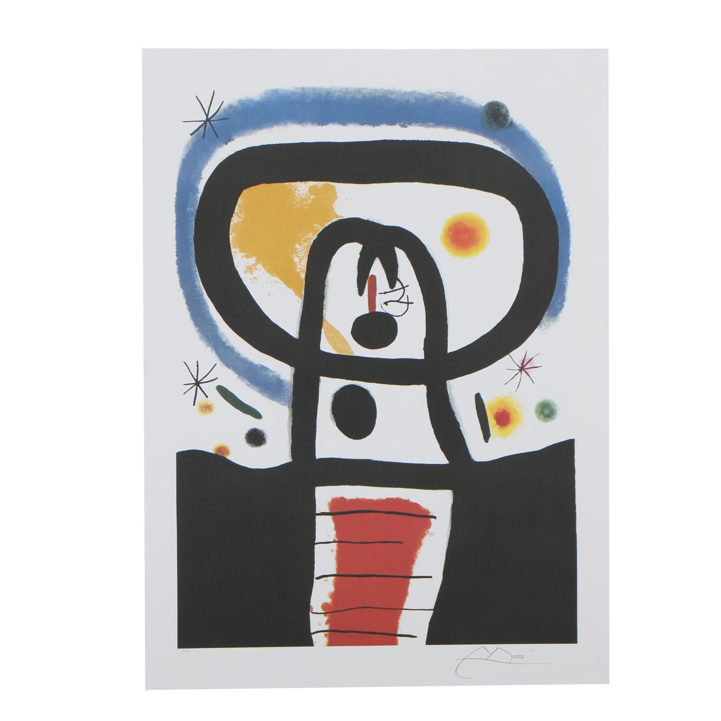 "Offset Lithograph after Joan Miró ""Equinox"""