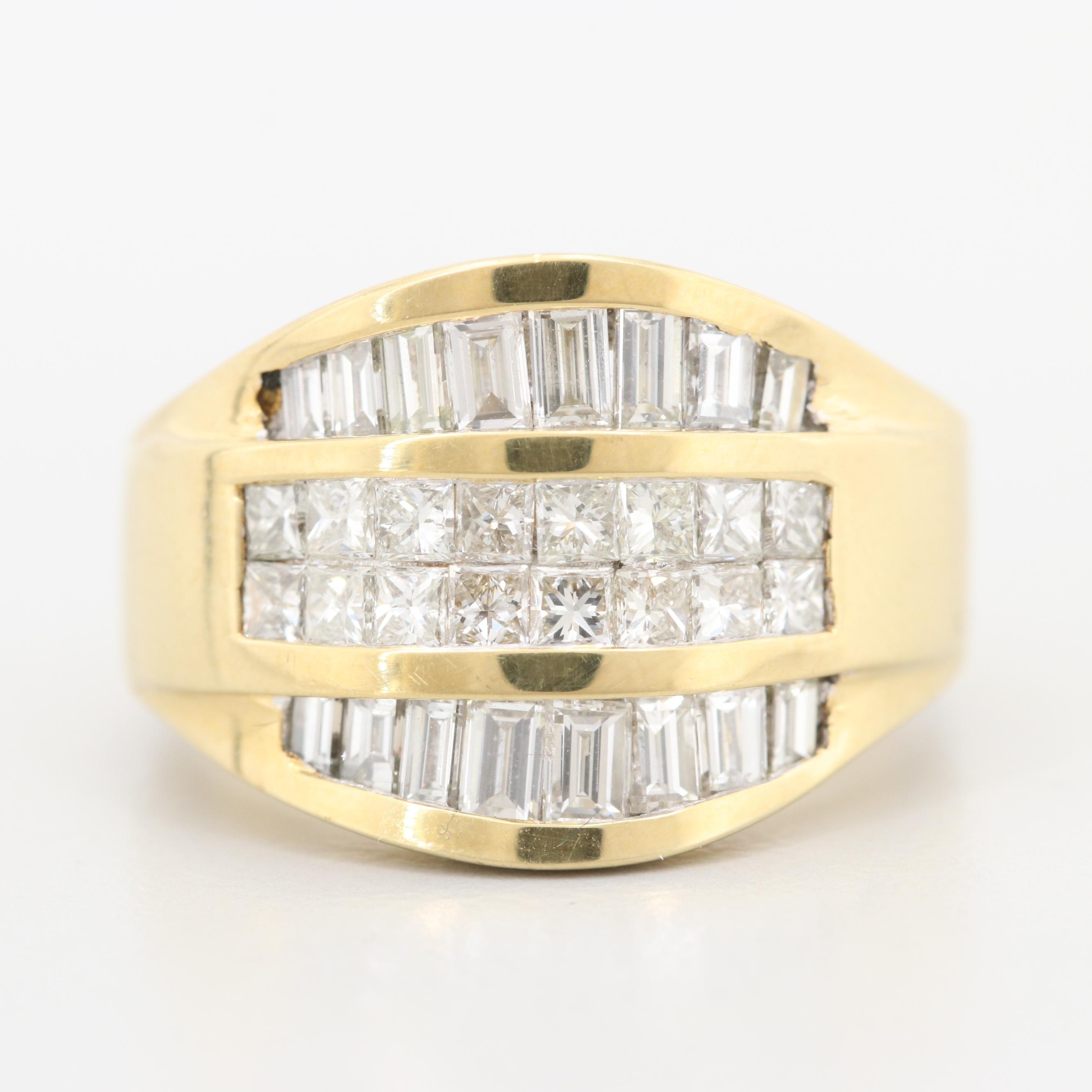 18K Yellow Gold 1.90 CTW Diamond Ring