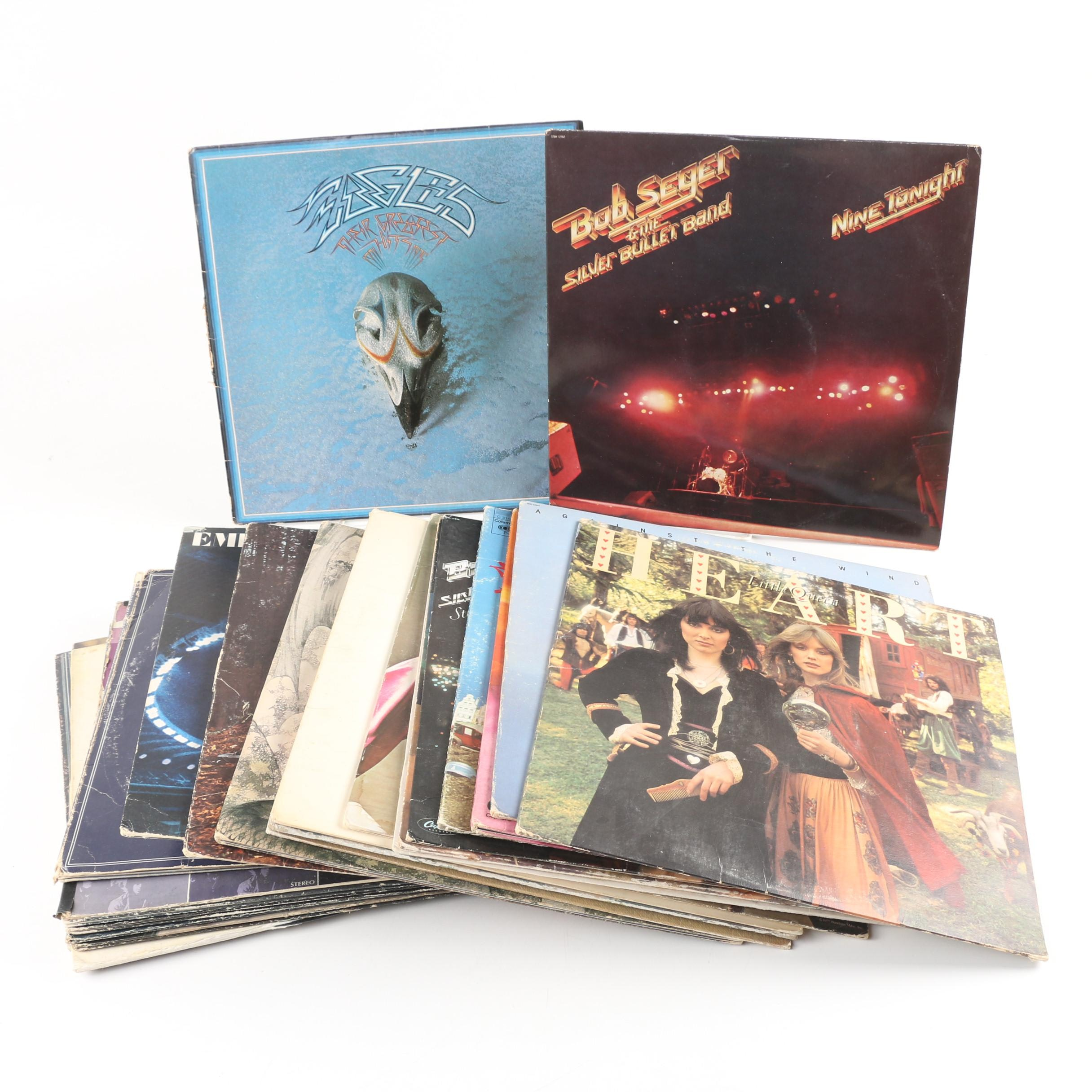 Record Albums featuring Heart, Bob Seger and Peter Frampton