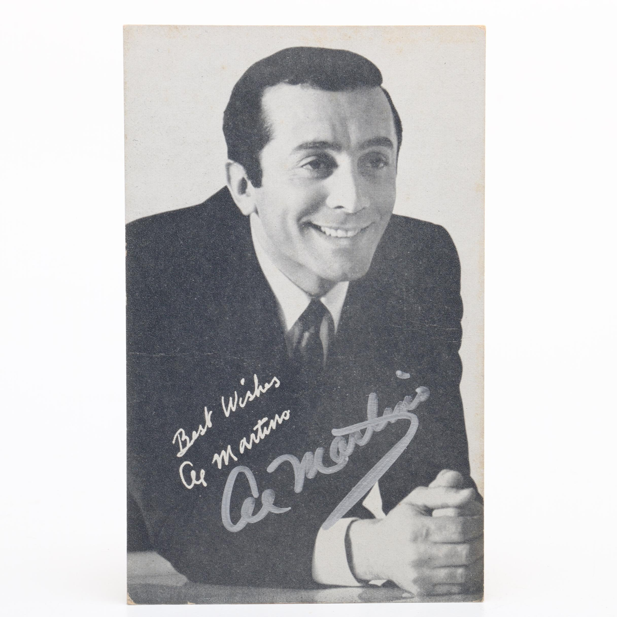 Al Martino Signed Promotional Card