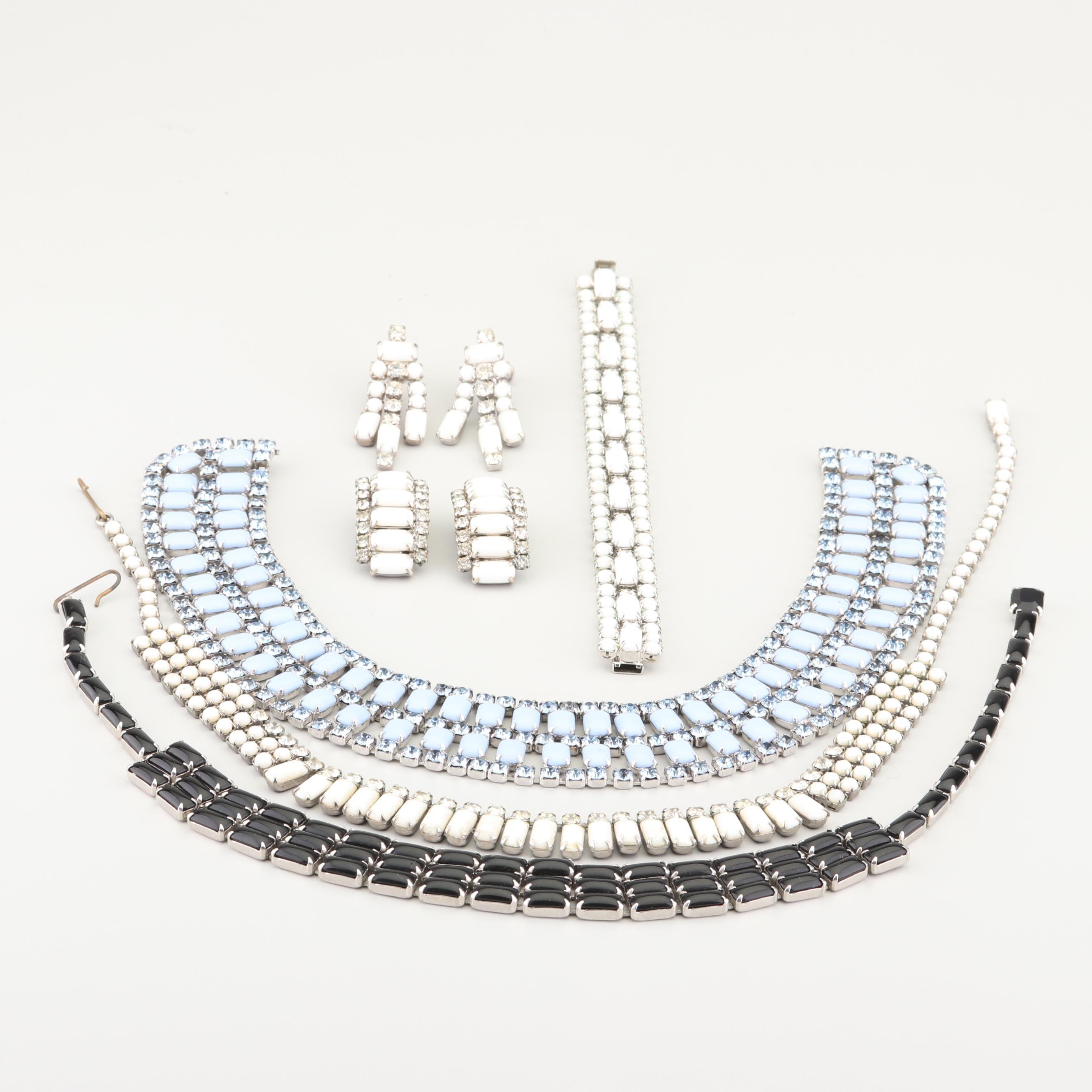Rhinestone Jewelry Including Weiss