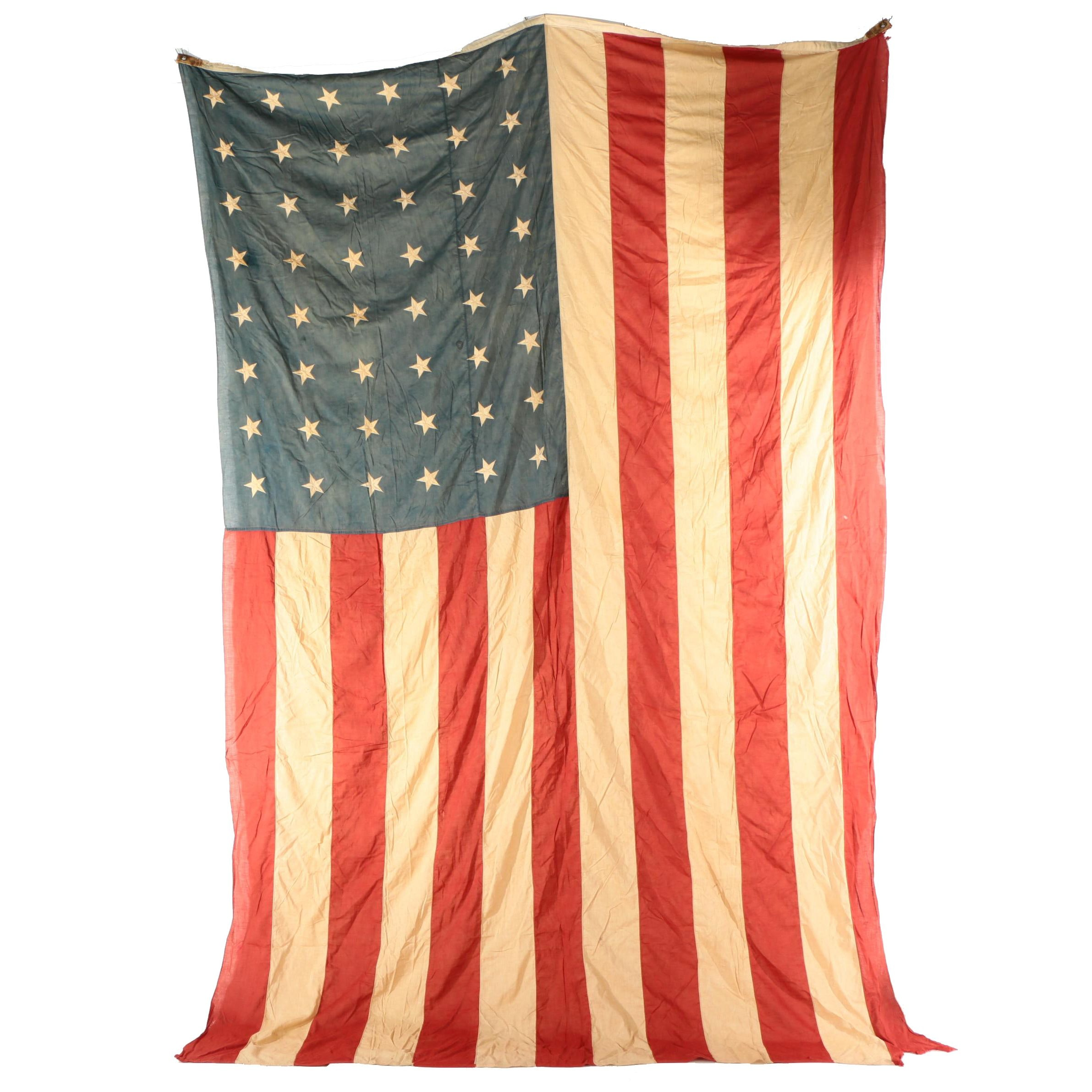 Large 48 Star American Flag, 1912 - 1959