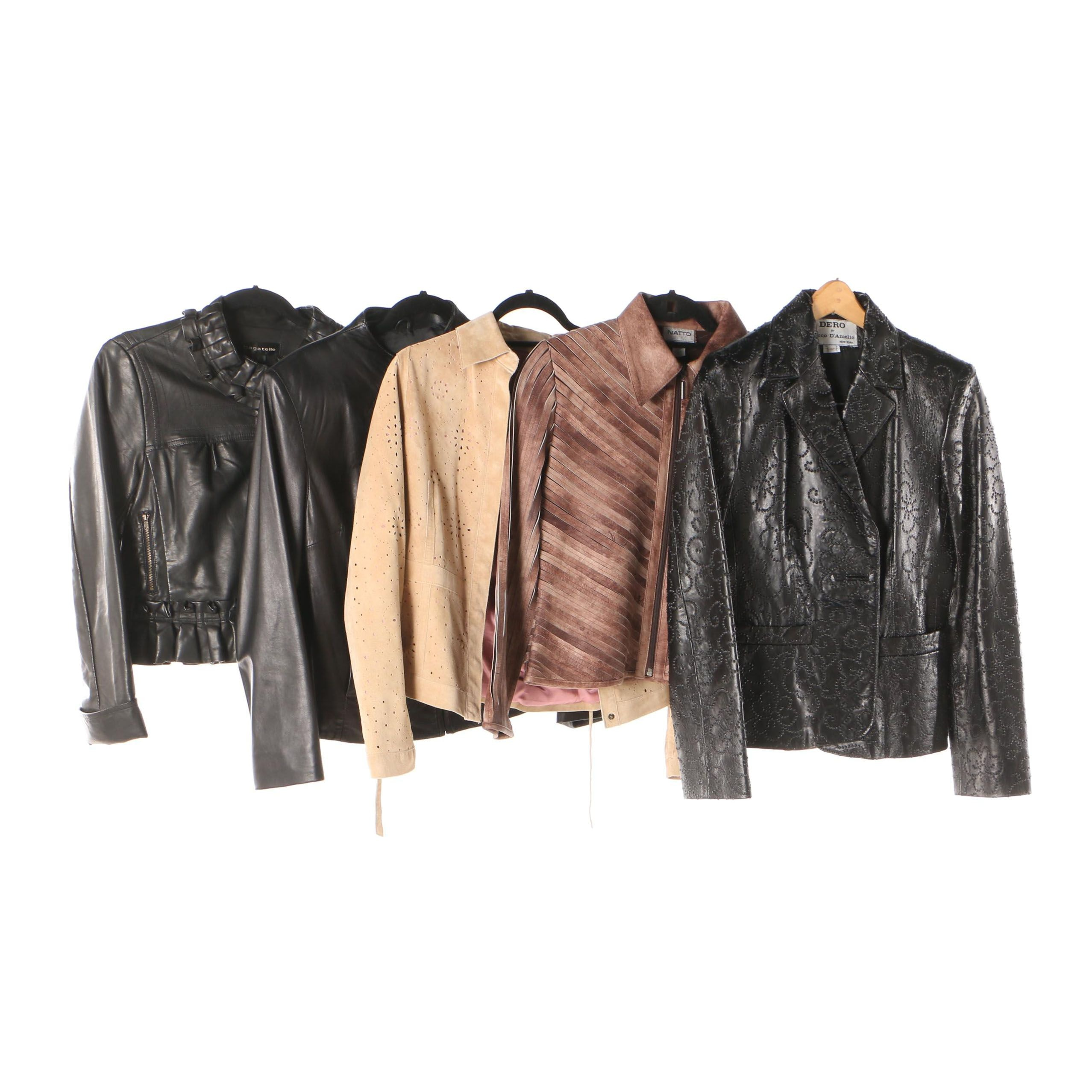 Women's Suede and Leather Jackets Including Dero by Rocco D'Amelio and Bagatelle