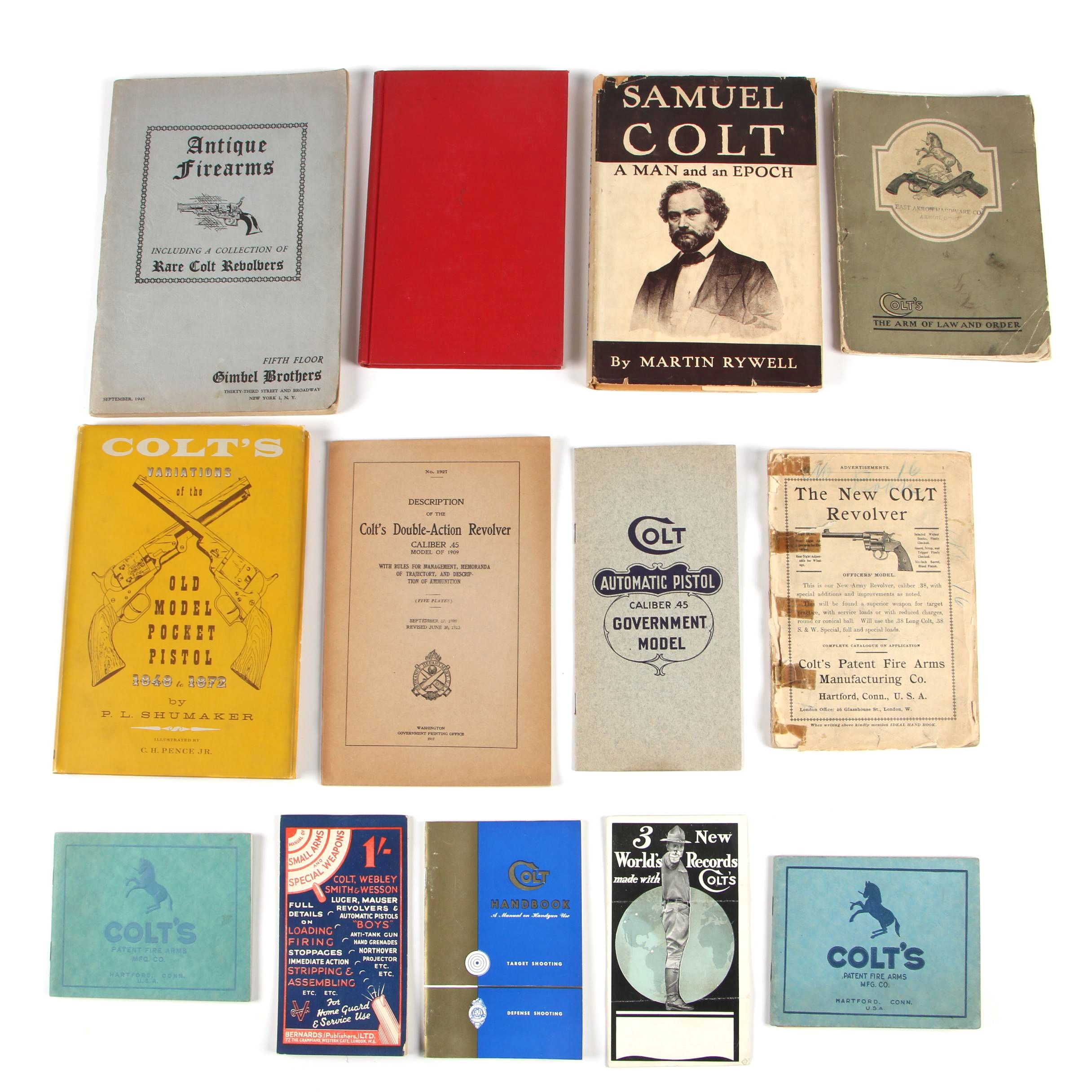 Vintage to Antique Colt Firearm Books, Catalogues, Manuals and Epherema
