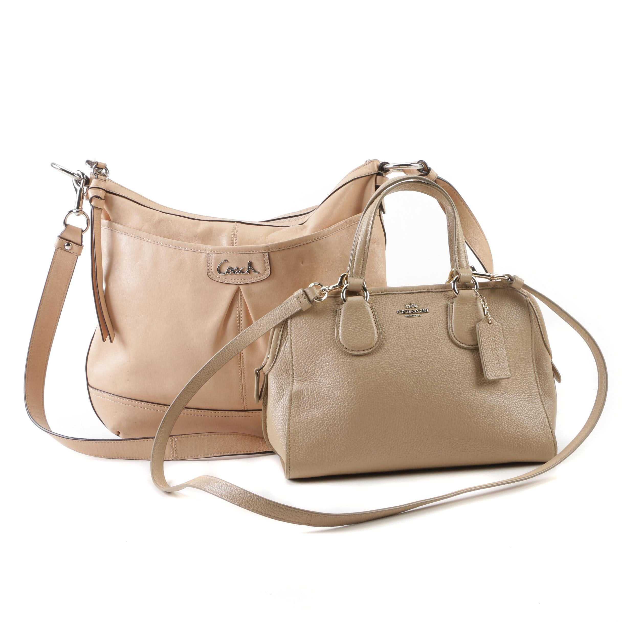 Coach Pebble Leather Mini Nolita Satchel and Beige Leather Park Shoulder Bag