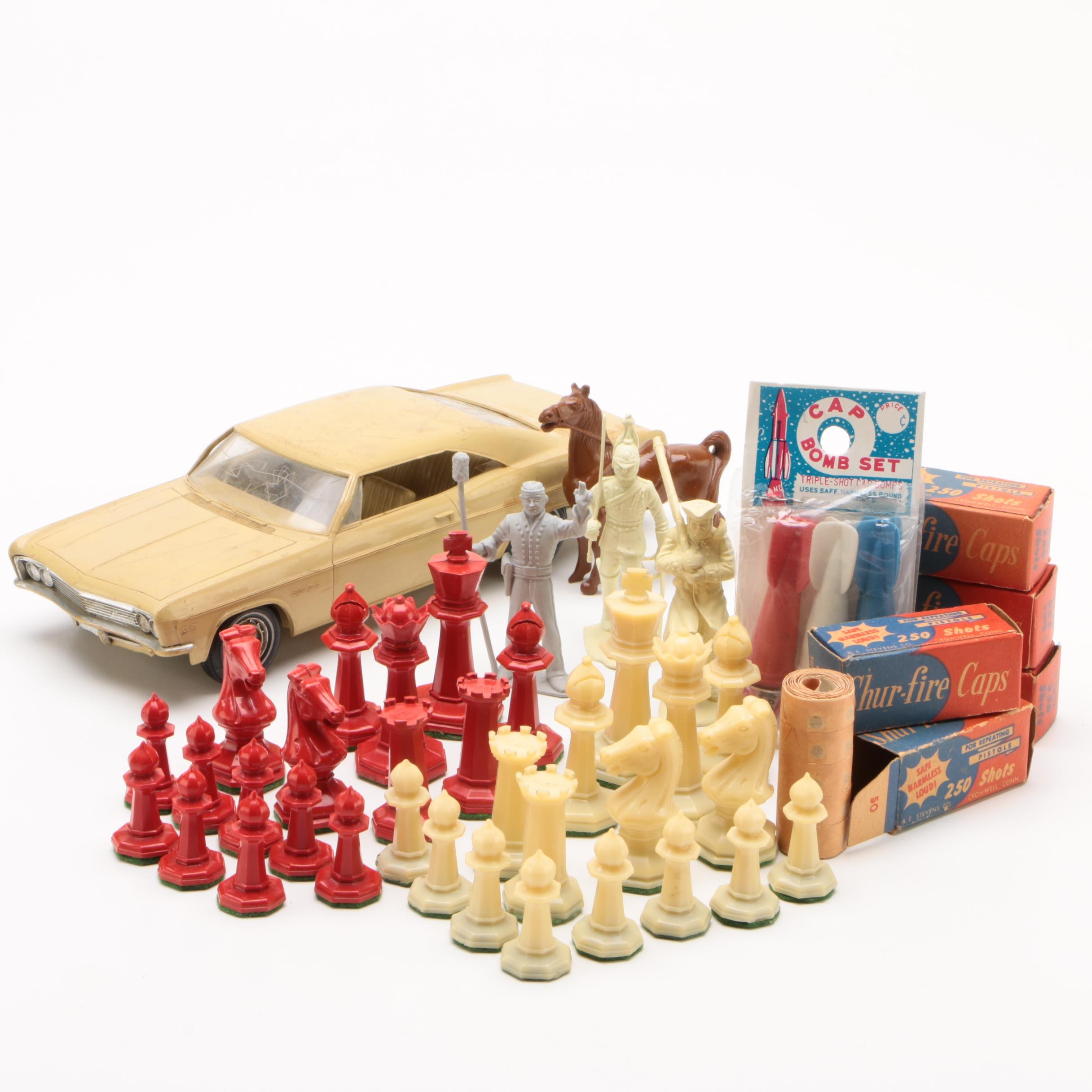 Drueke Plastic Chess Pieces with Shur-Fire Caps, Cap Bombs, and More