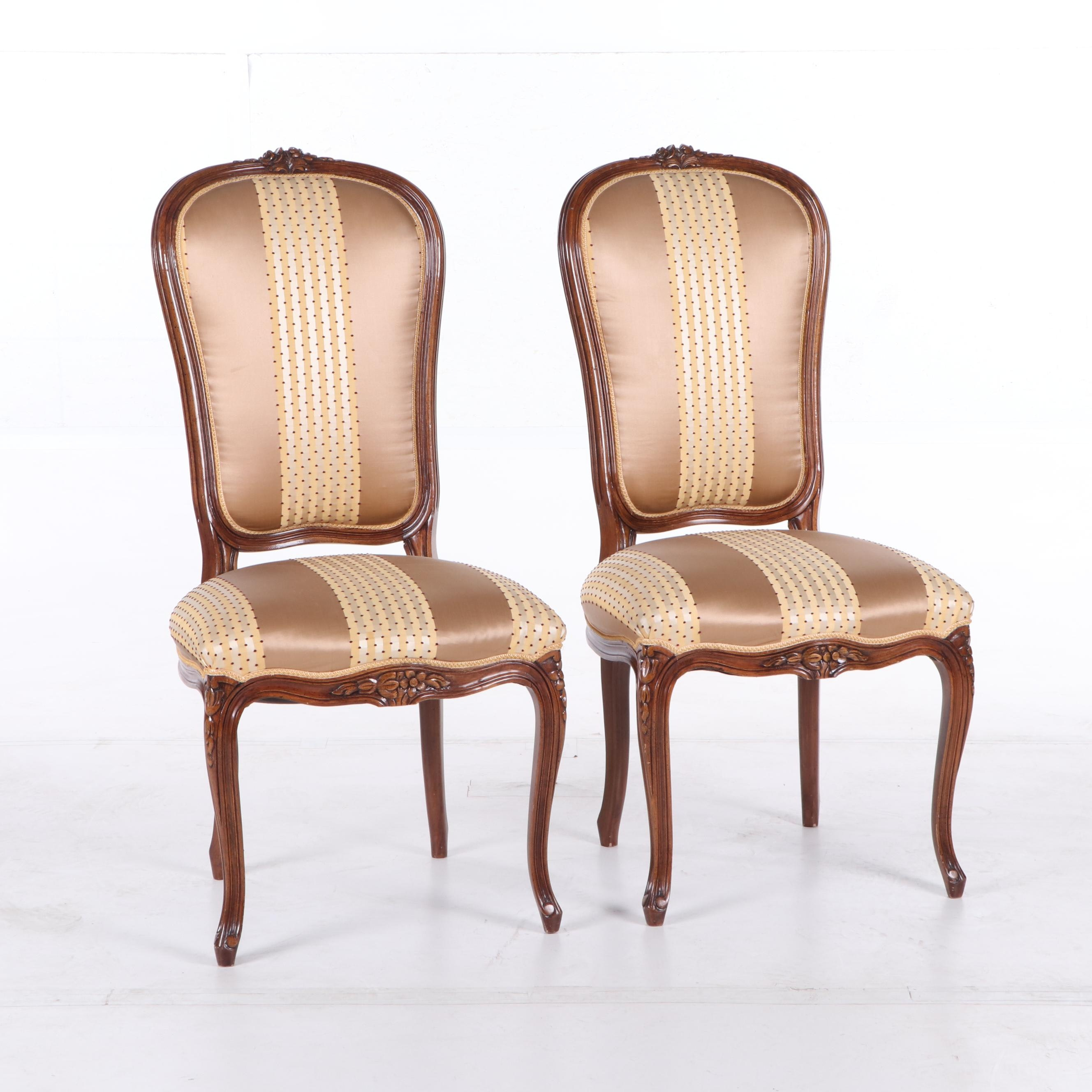 Louis XV Style Upholstered Side Chairs, 21st Century