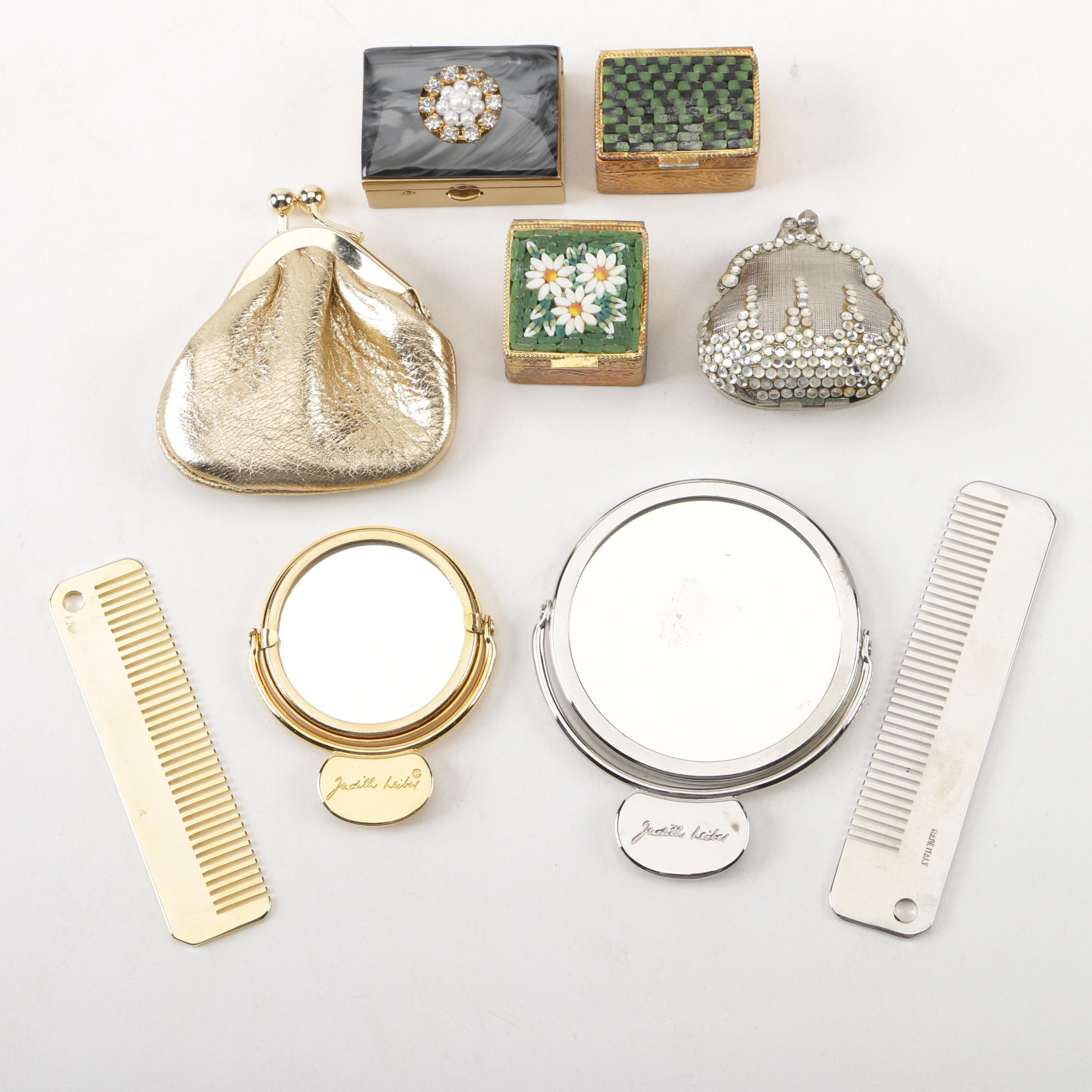Pill Boxes and Purse Accessories Including Judith Leiber