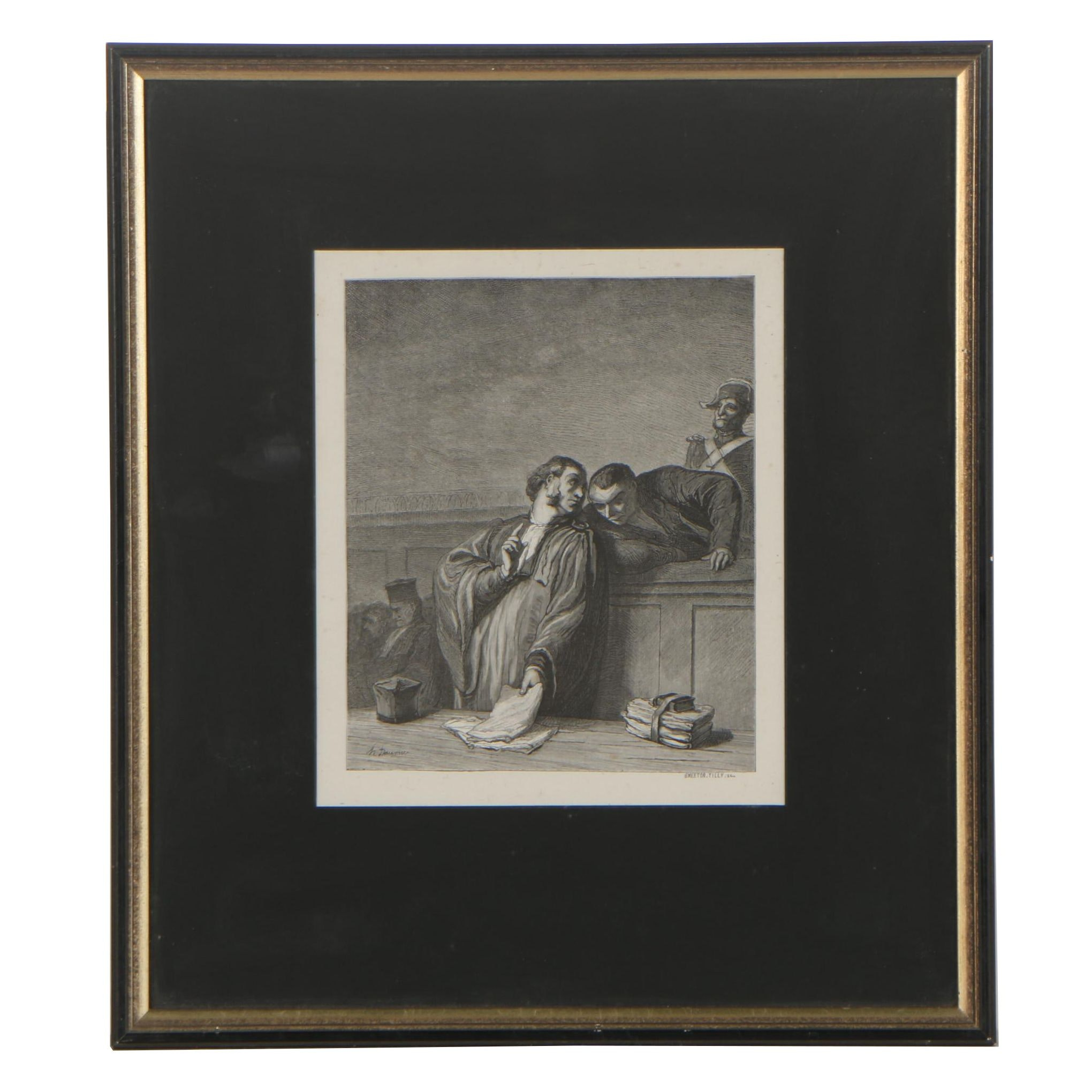 Burn Smeeton and Auguste Tilly  Wood Engraving after Honoré Daumier
