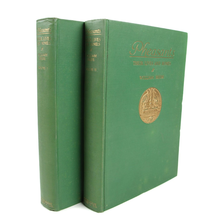 """First Trade Edition """"Pheasants: Their Lives and Homes"""" by William Beebe, 1926"""