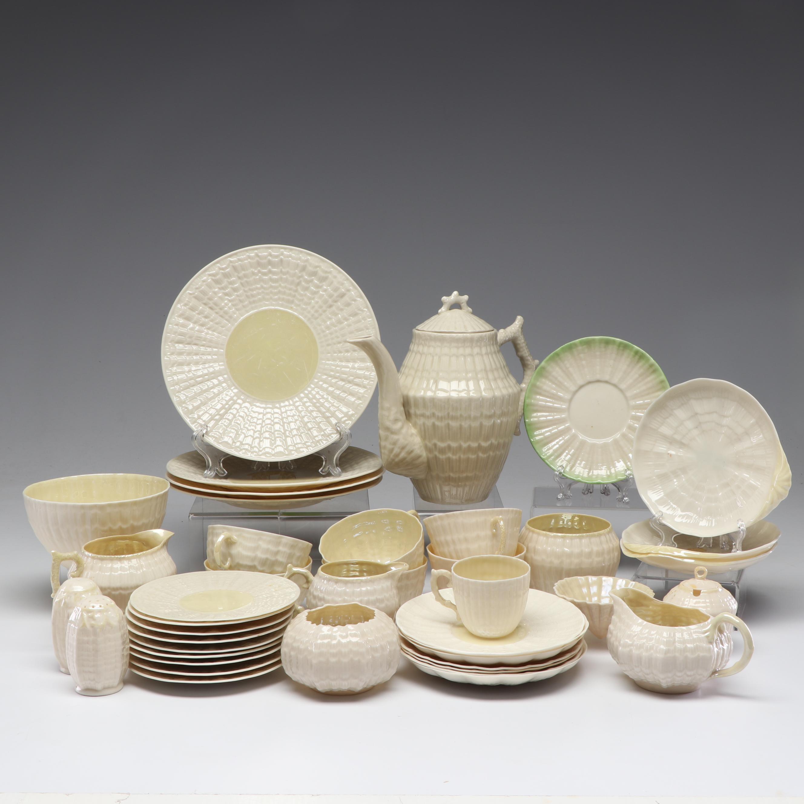 Belleek Porcelain Tea Serving and Tableware Pieces