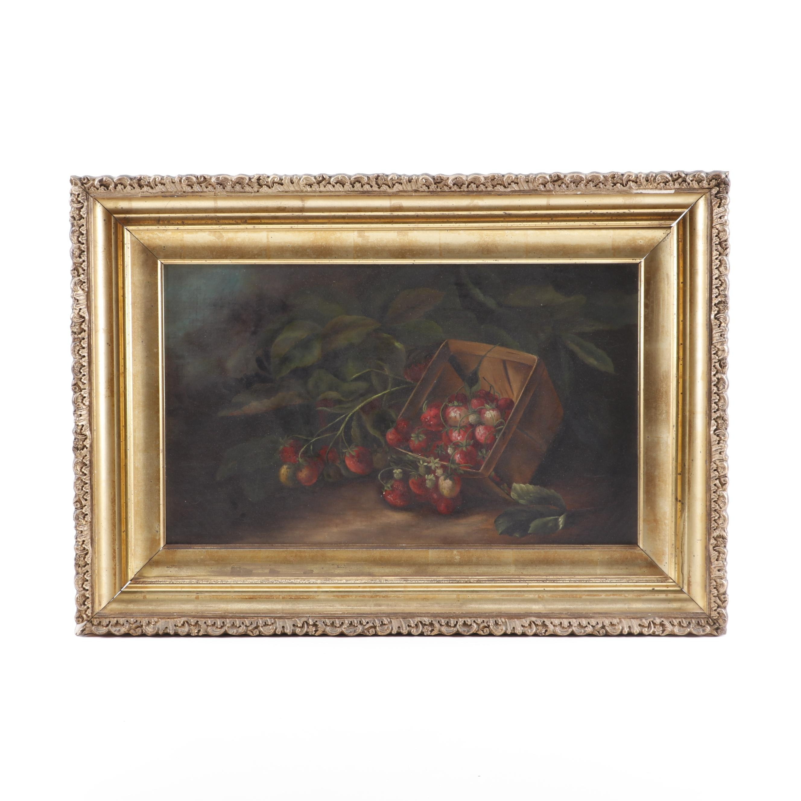 Still Life with Strawberries Oil Painting