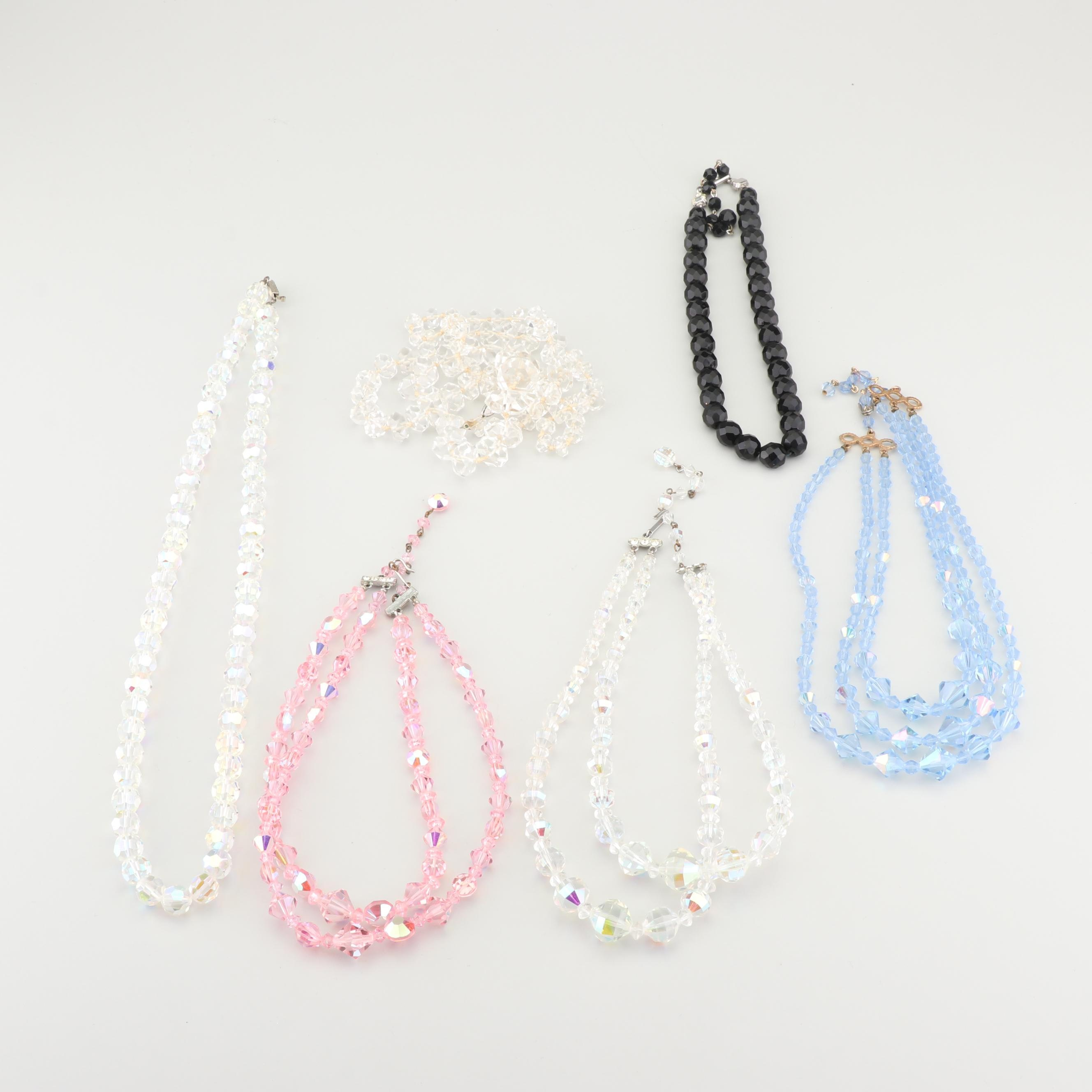 Faceted Crystal Bead Necklaces