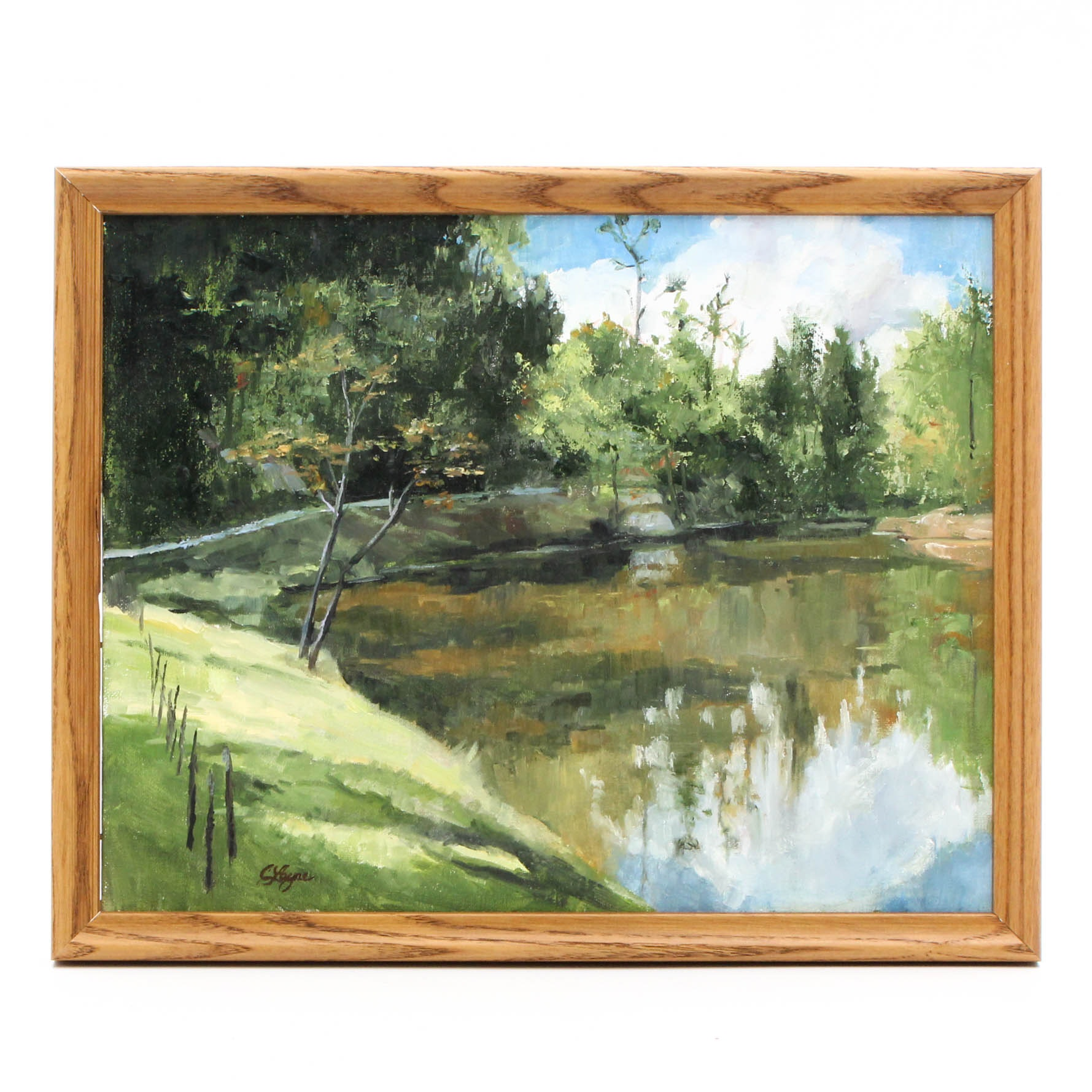 Connie Layne Impressionist-Style Oil Landscape Painting