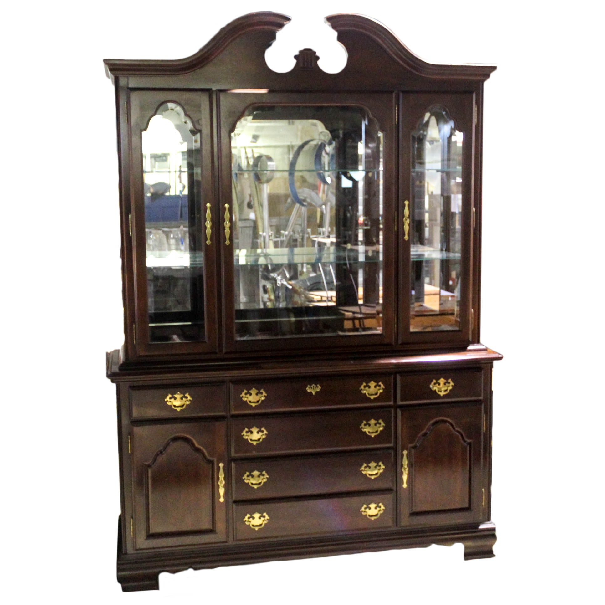 "Kincaid ""Cherry Mountain"" Chippendale Style China Cabinet"