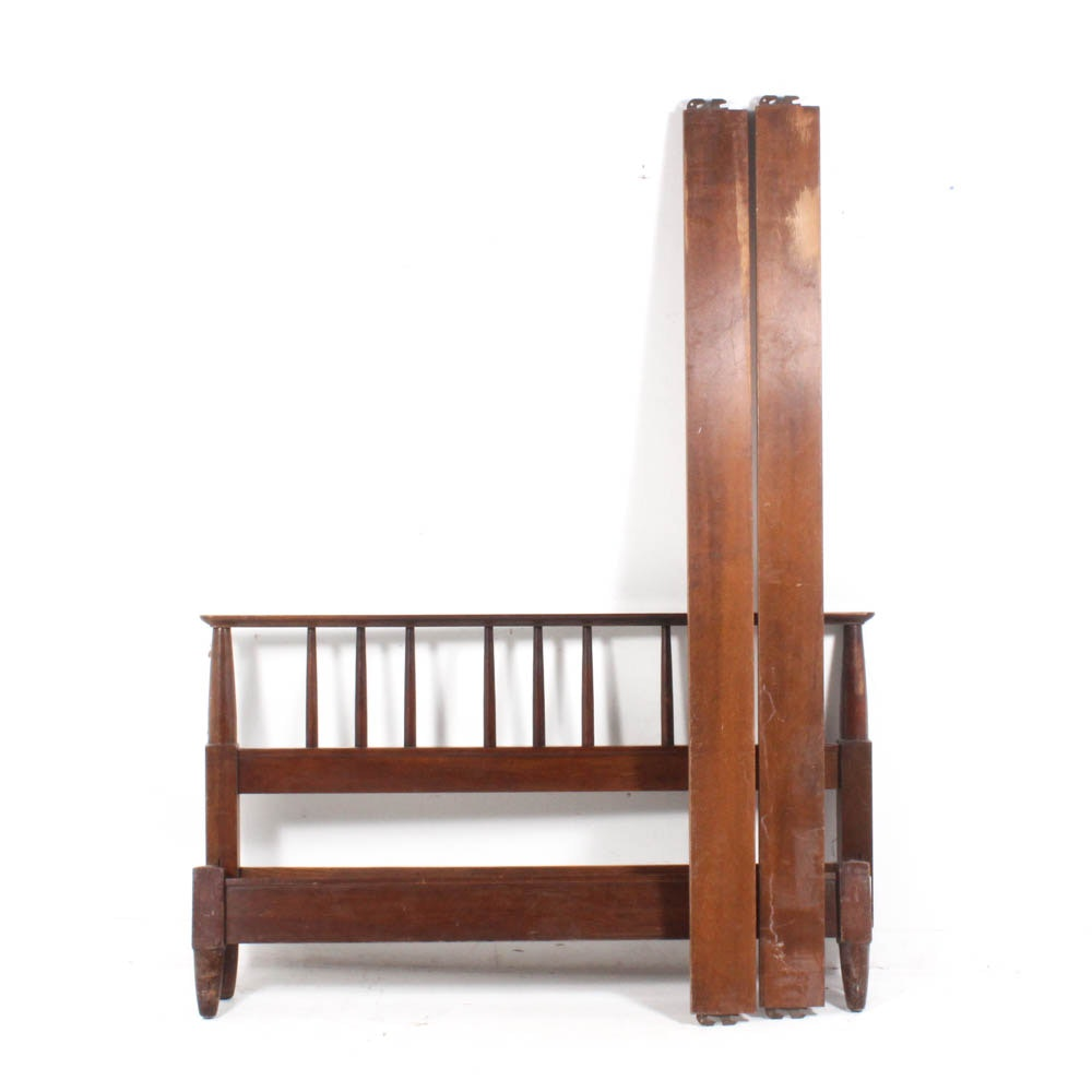 Vintage Wooden Full Size Bed Frame