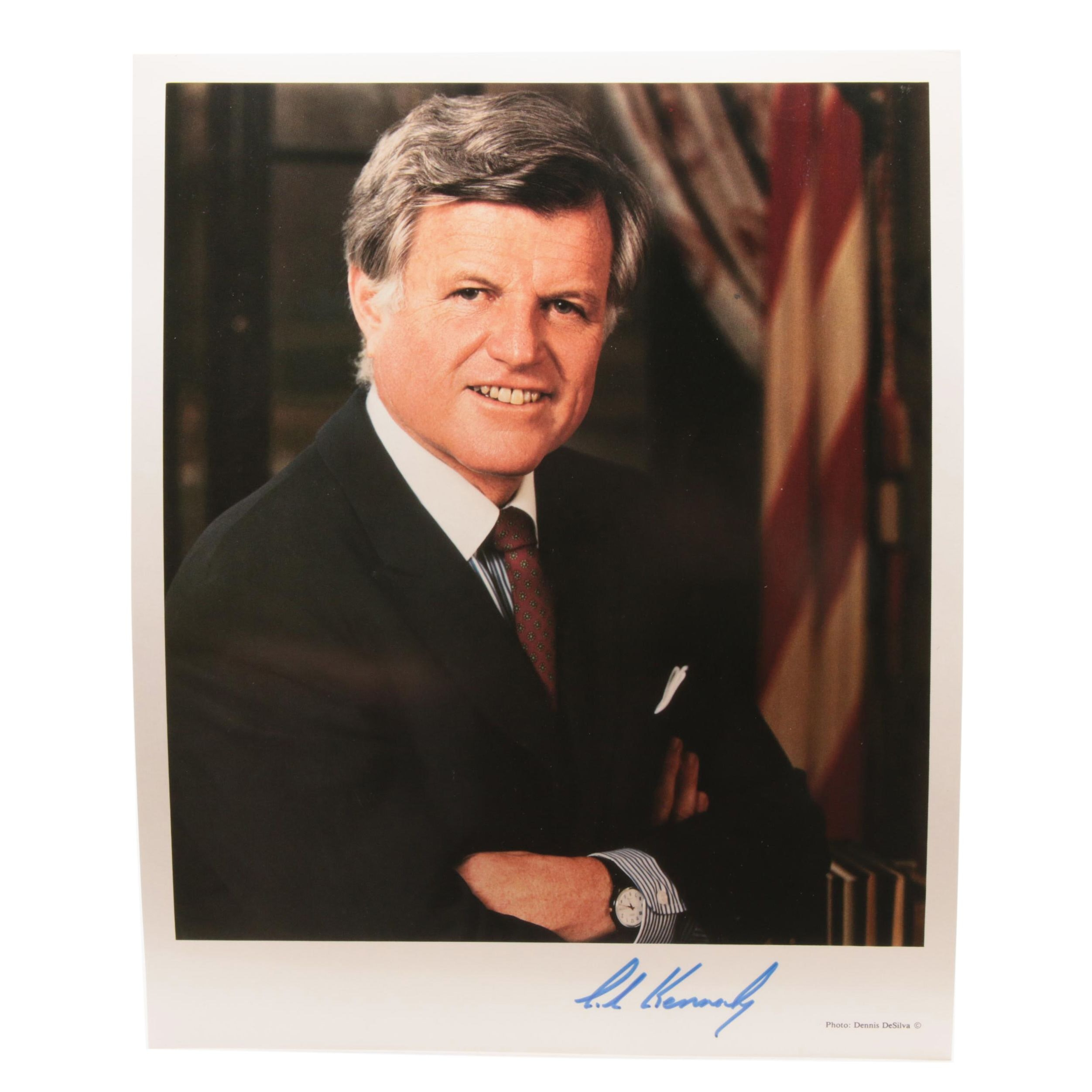 Ted Kennedy Signed Political Photo Print