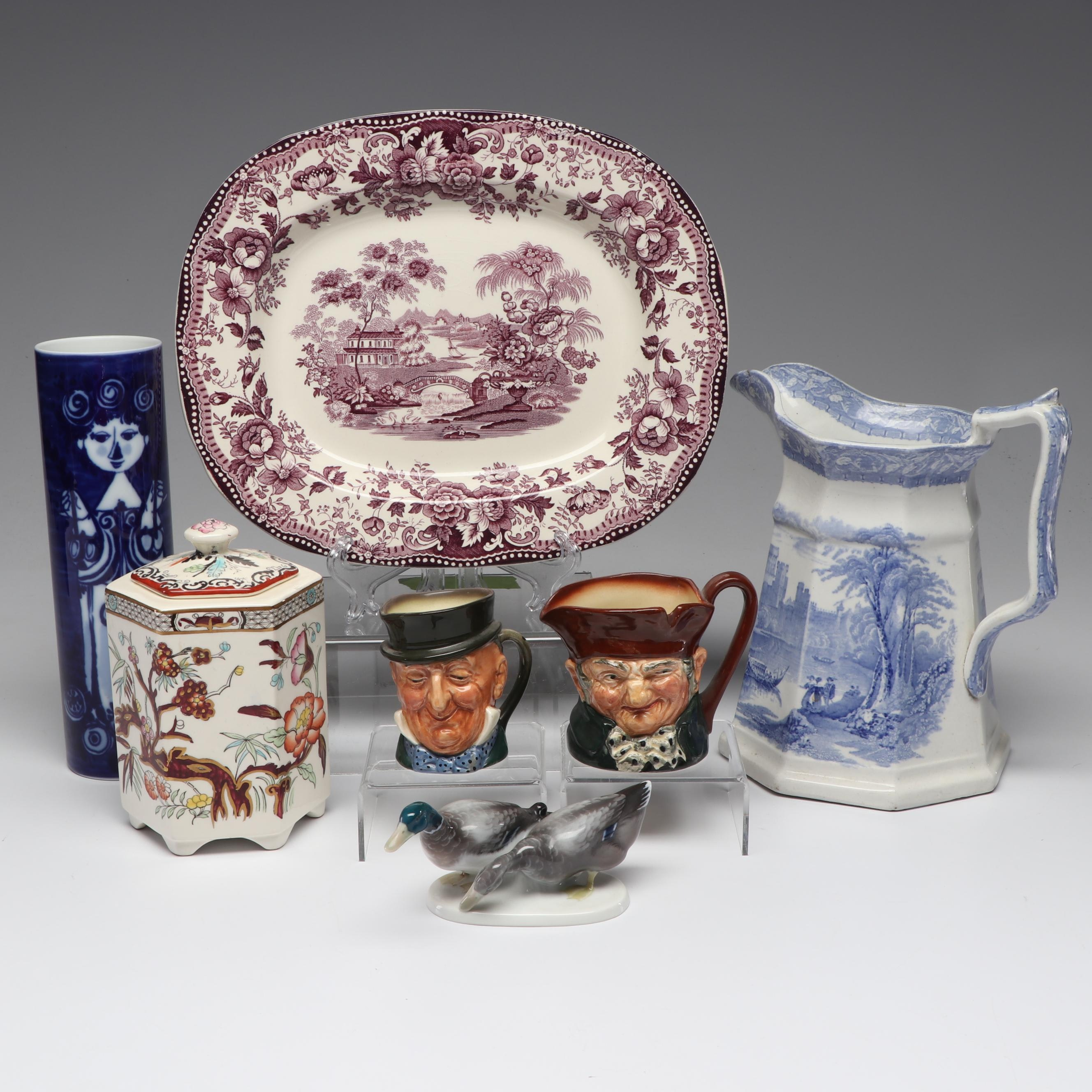 English and German Ceramic Decor including Clarice Cliff and Rosenthal
