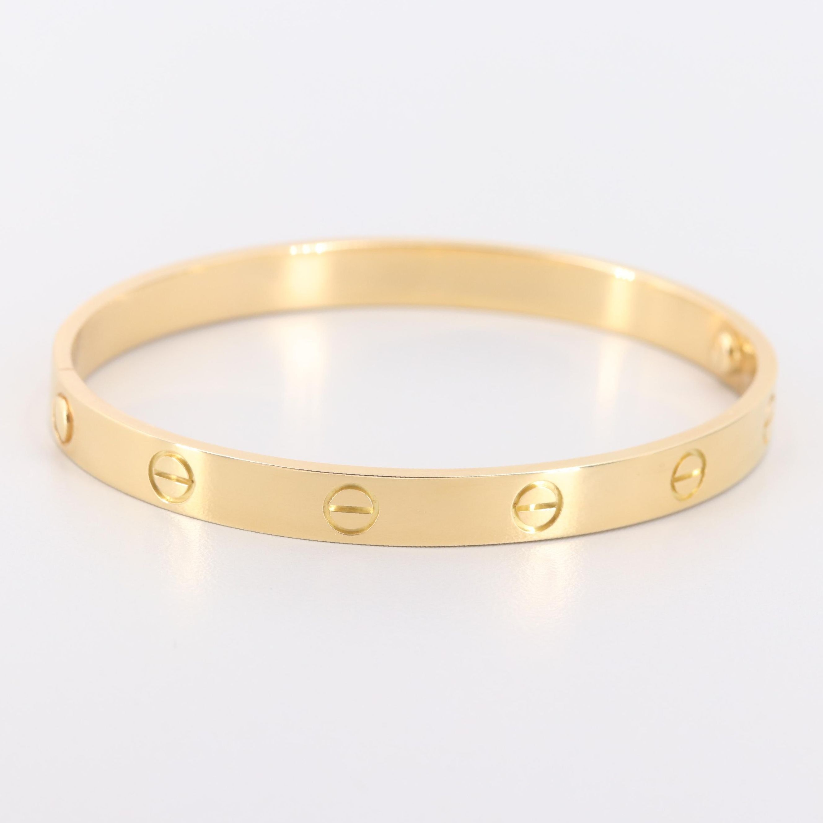 "Cartier ""Love"" 18K Yellow Gold Bangle Bracelet with Box"