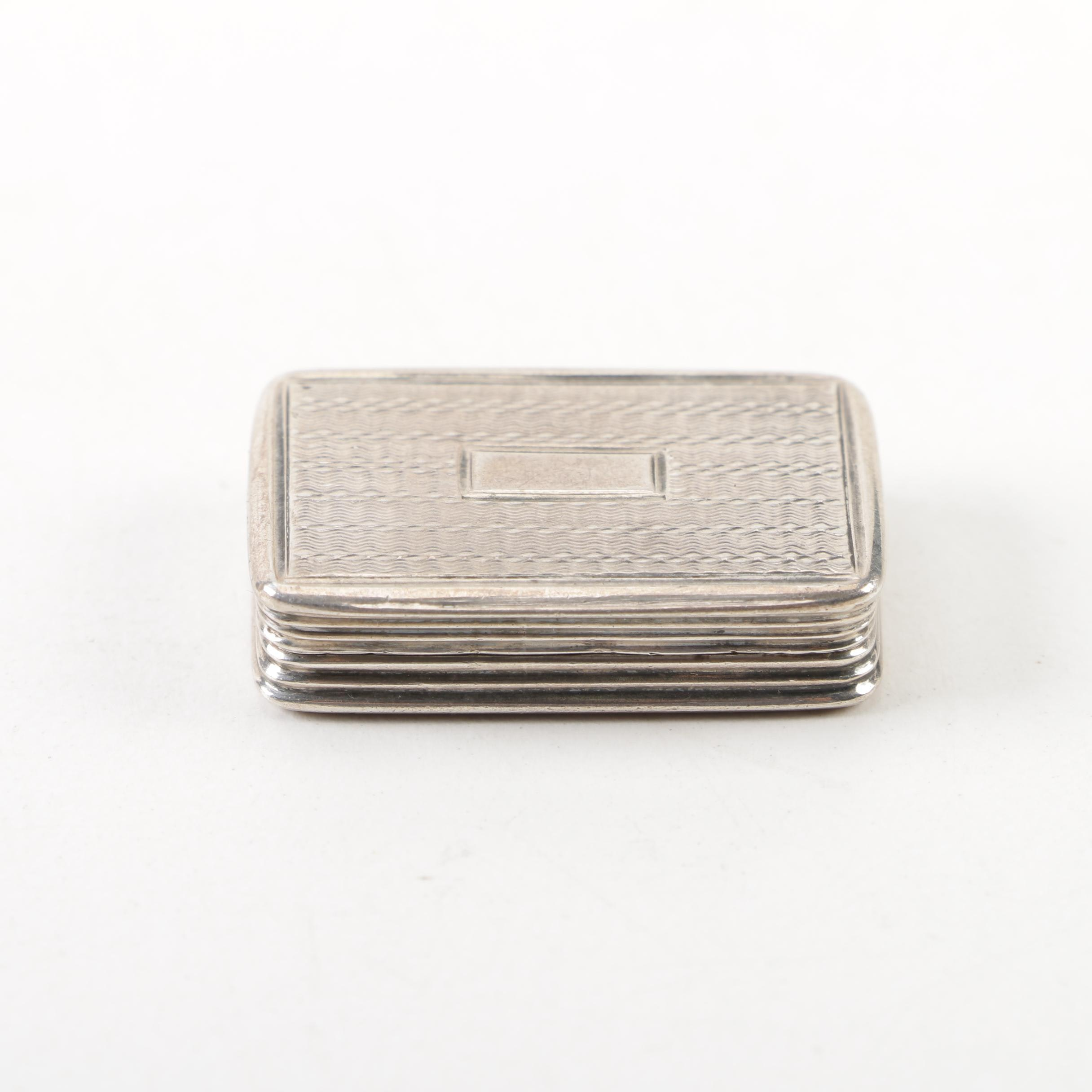 William IV Sterling Silver Vinaigrette with Mark of Joseph Willmore