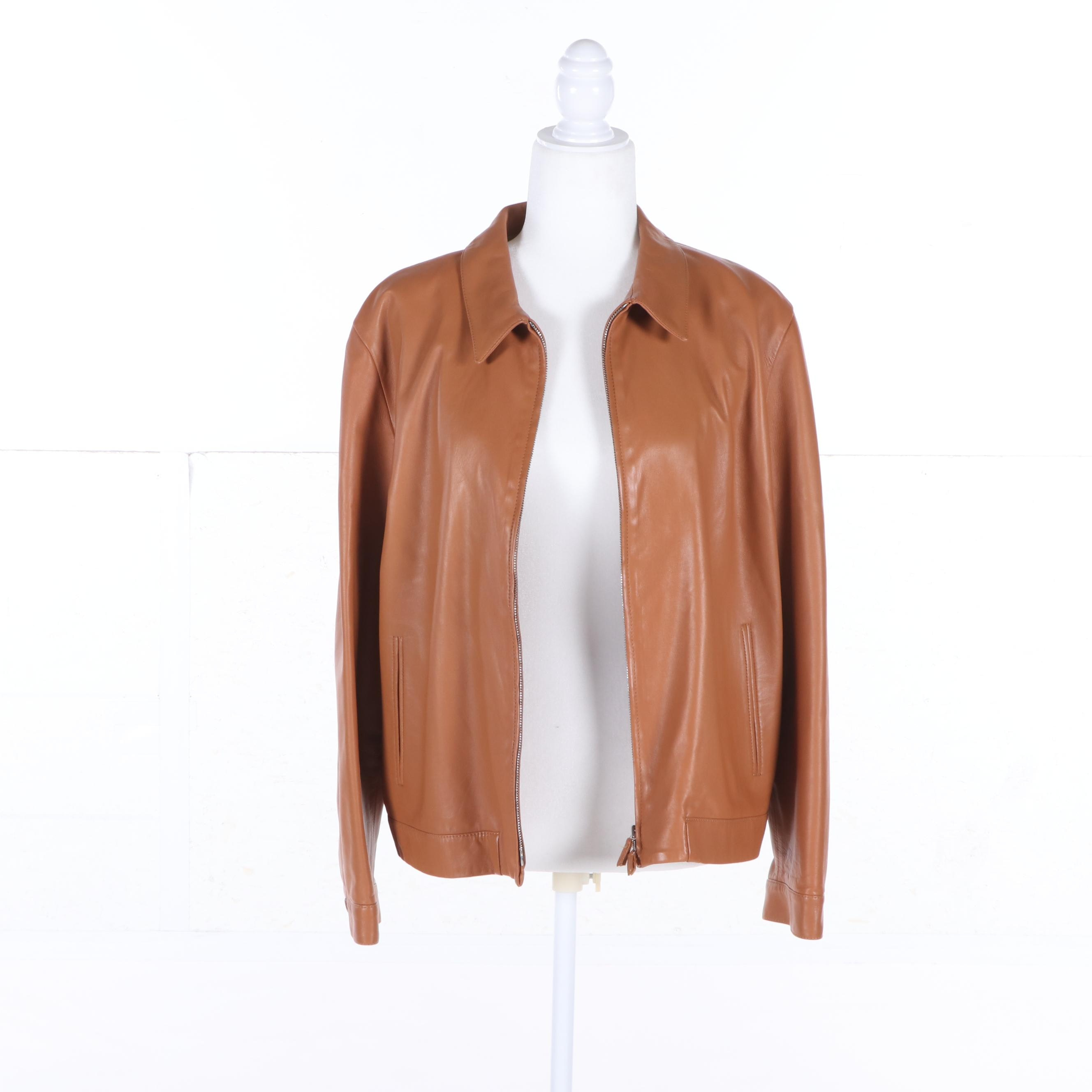Women's Piazza Sempione Leather Jacket, Made in Italy
