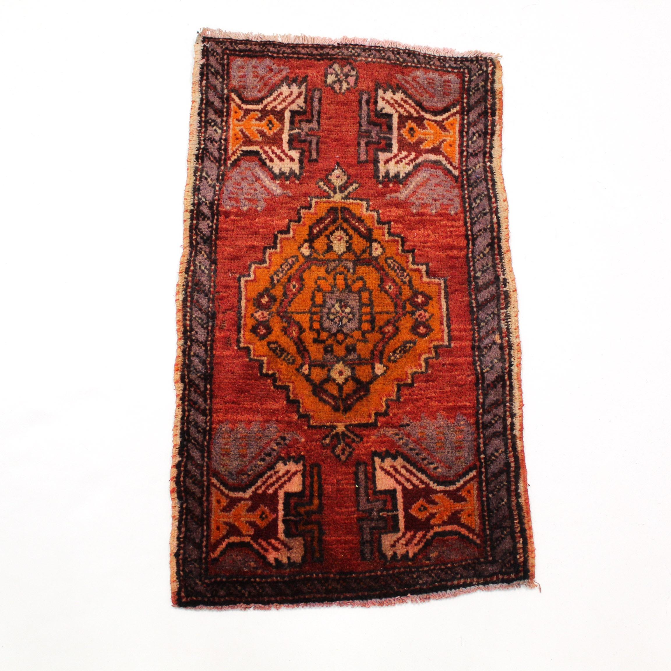 Hand-Knotted Turkish Oushak Village Rug, circa 1960