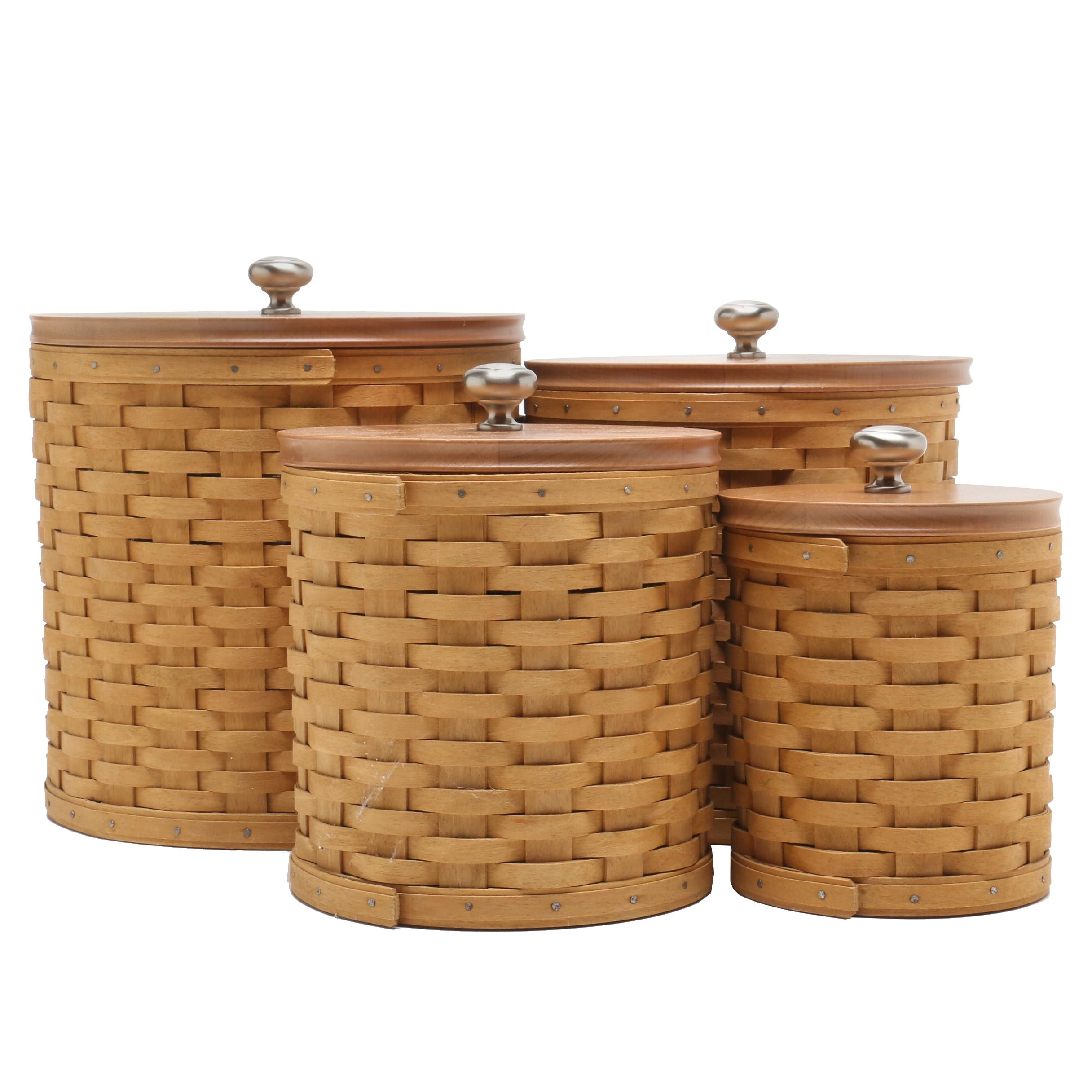 Longaberger Woodcrafts Canister Baskets
