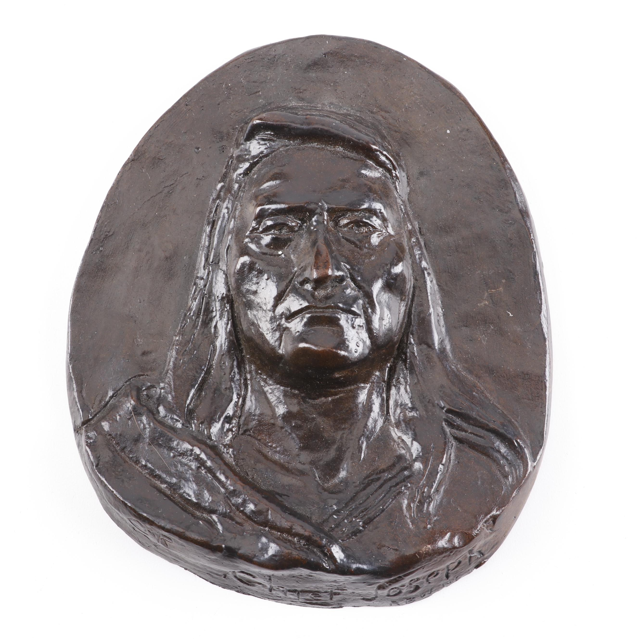 """Bronze Sculpture after Charles Russell """"Chief Joseph"""""""