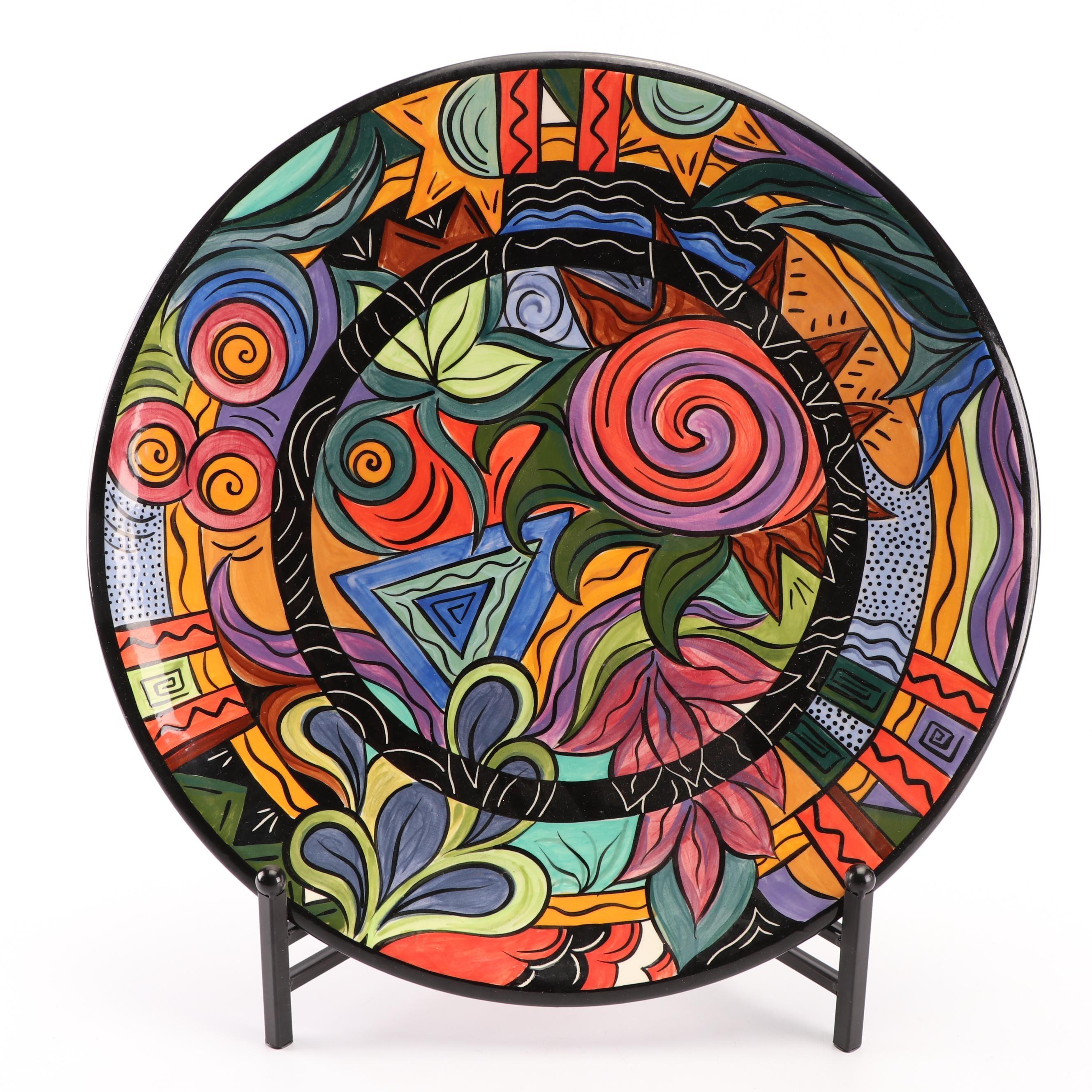L.G. Gossett Hand-Painted Ceramic Platter