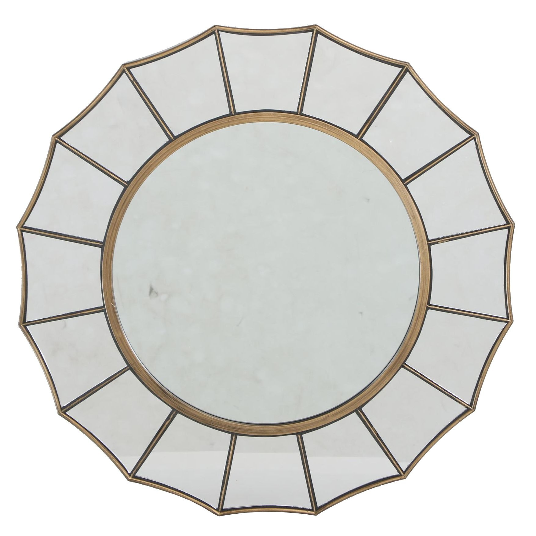 Contemporary Gilt-Painted Sunburst Mirror