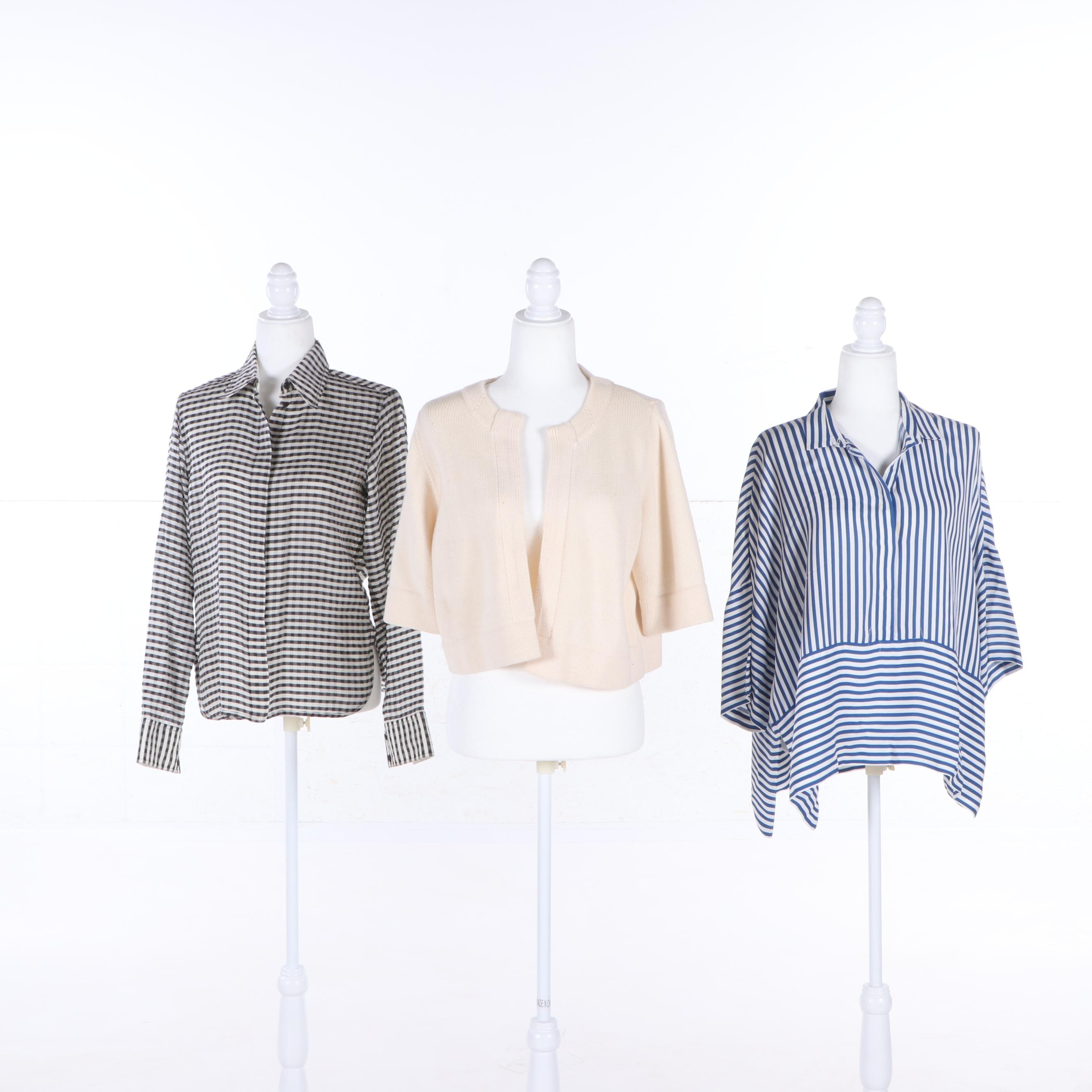 Women's Céline, Piazza Sempione and Akris Punto Shirts and Open Front Jacket