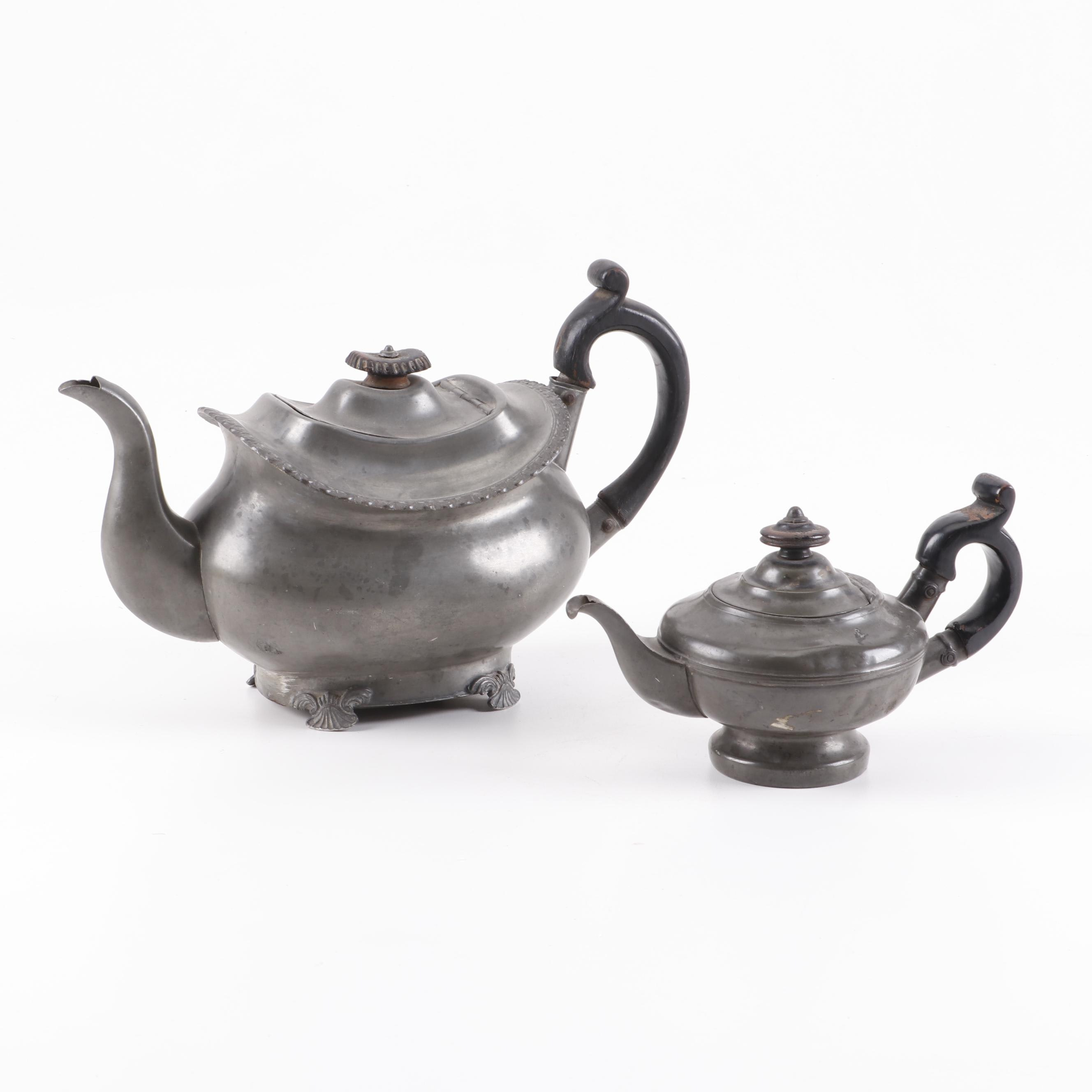 Antique Pewter Tea Pots