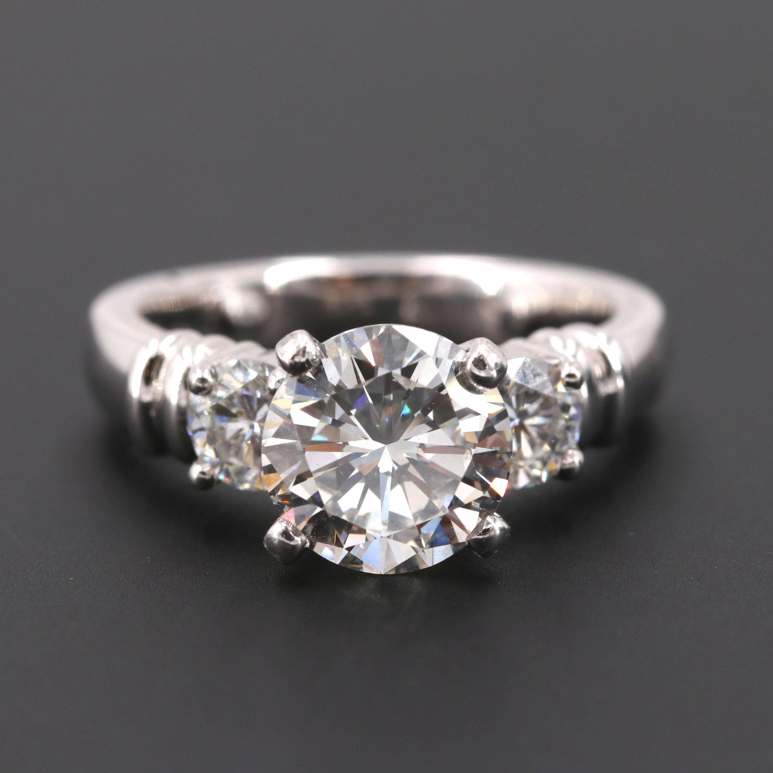 Platinum 2.67 CTW Diamond Ring