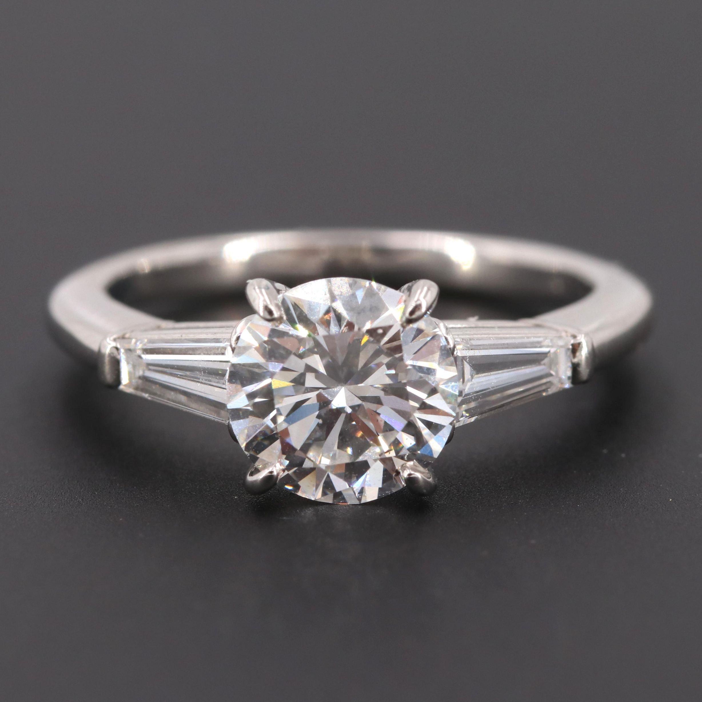 Cartier Platinum 1.73 CTW Diamond Ring with GIA Report