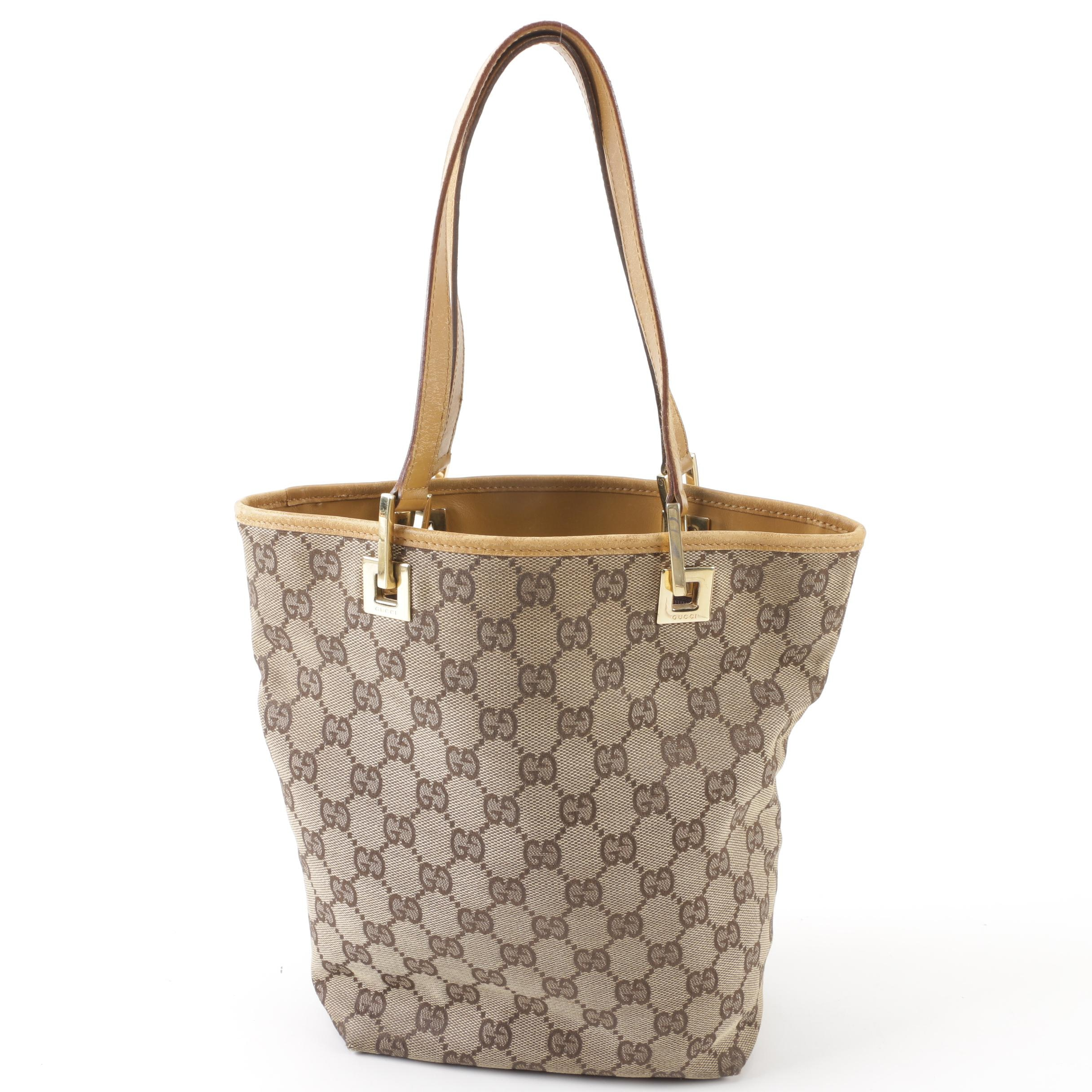 Gucci GG Monogram Canvas and Leather Mini Tote