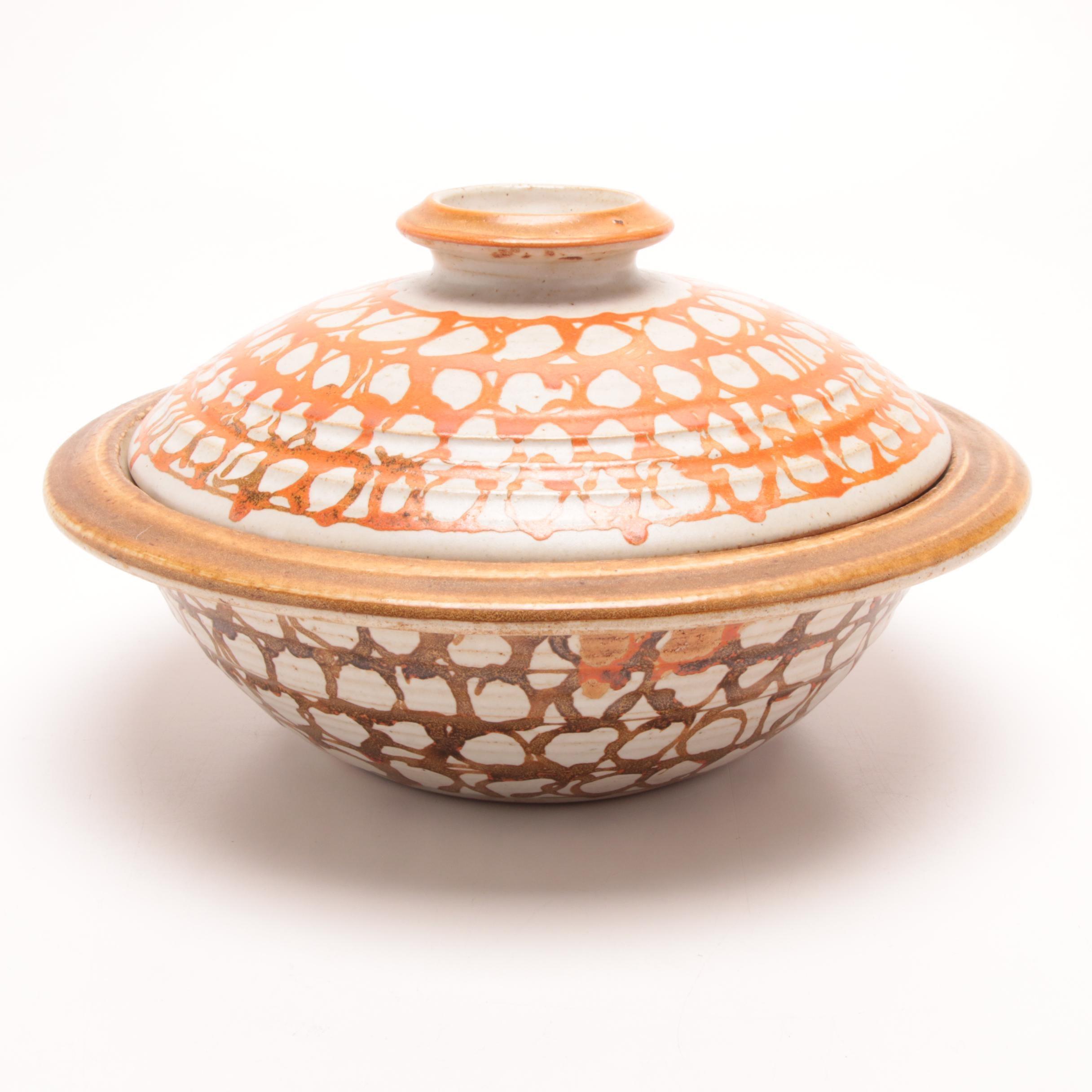 Wheel Thrown Stoneware Covered Bowl