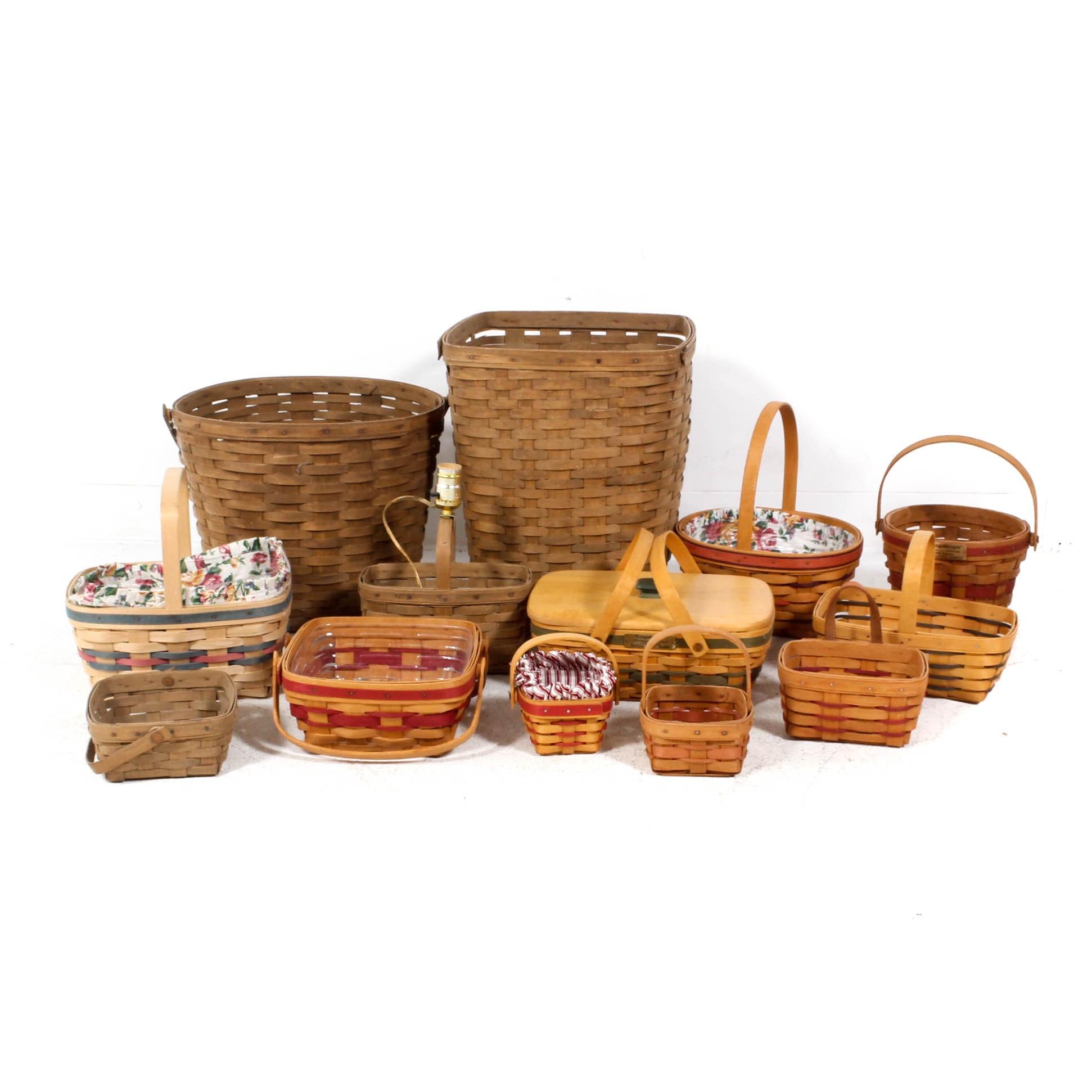 Longaberger Baskets Featuring Basket Lamp