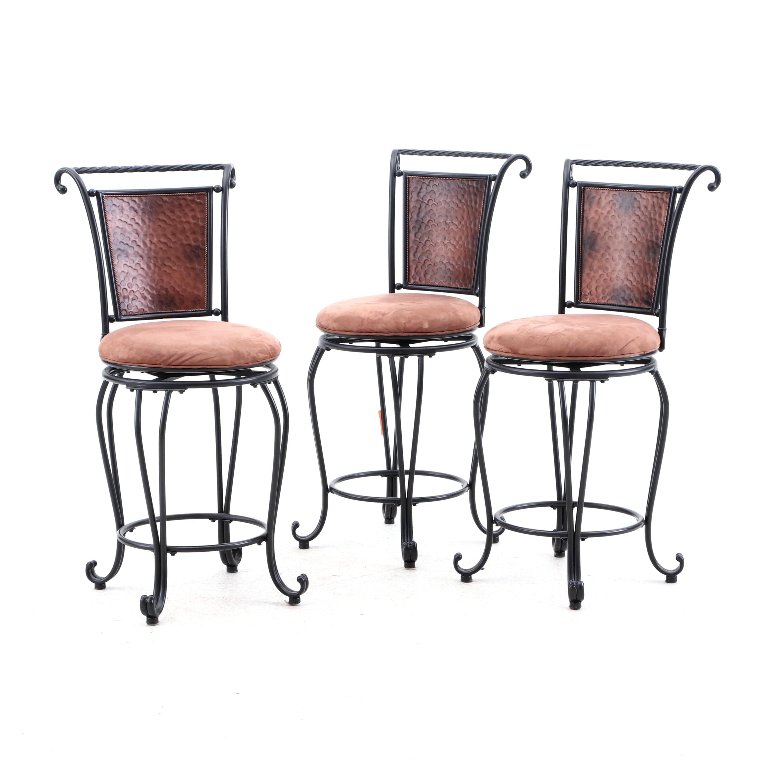 Contemporary Wrought Iron Bar Stools by Hillsdale Furniture