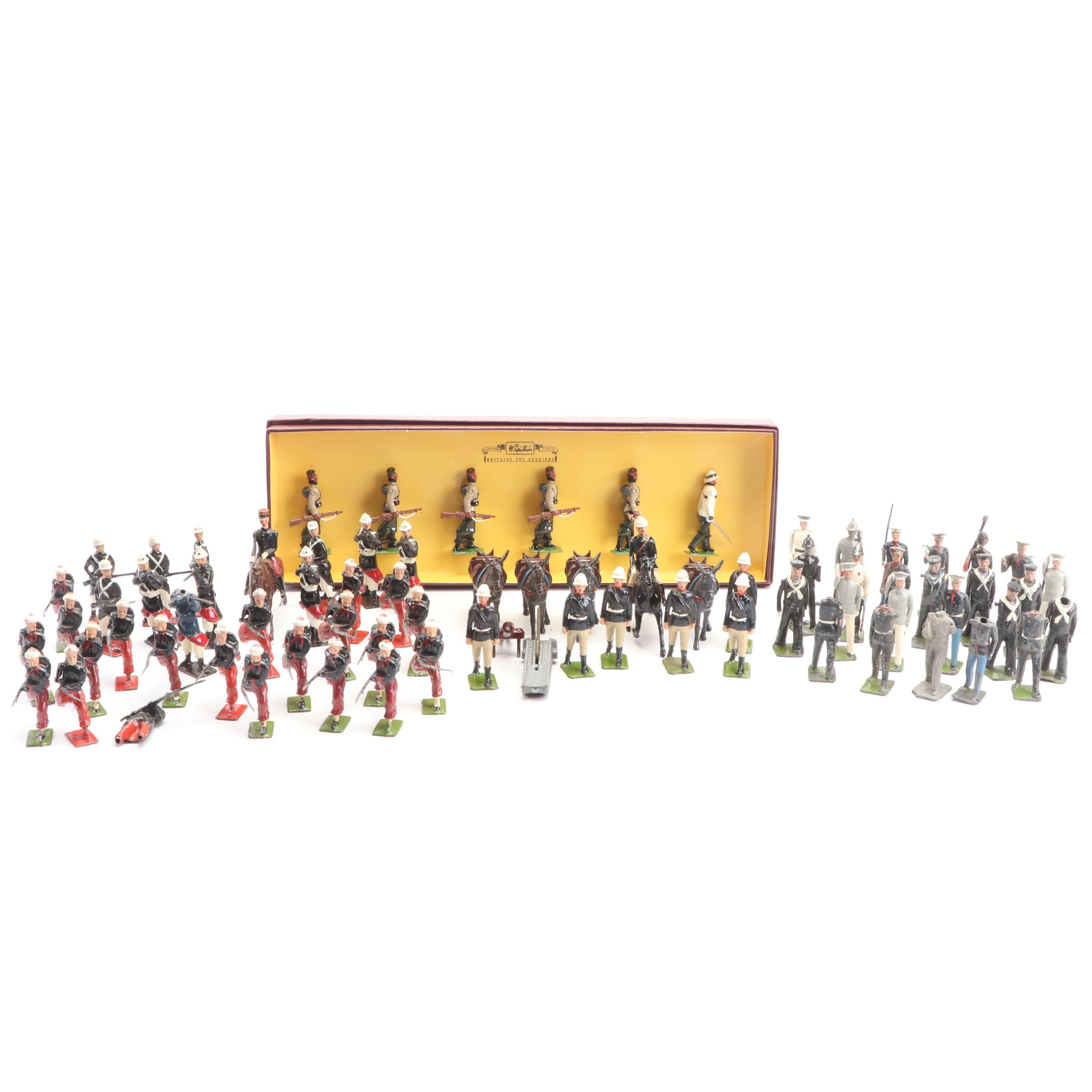 W. Britain and Johillco Die-Cast Soldiers
