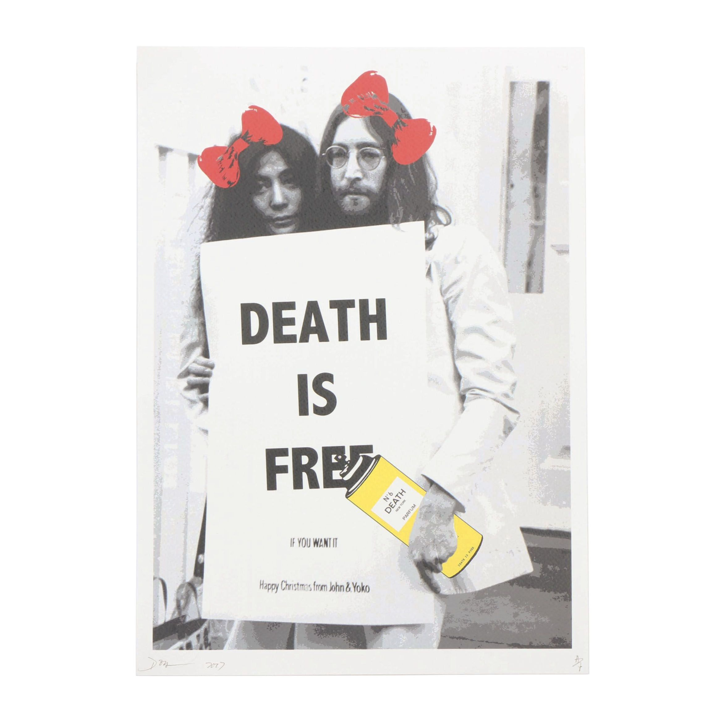 """Death NYC Artist Proof Street Art Style Offset Print """"Lennon DIF Y"""""""