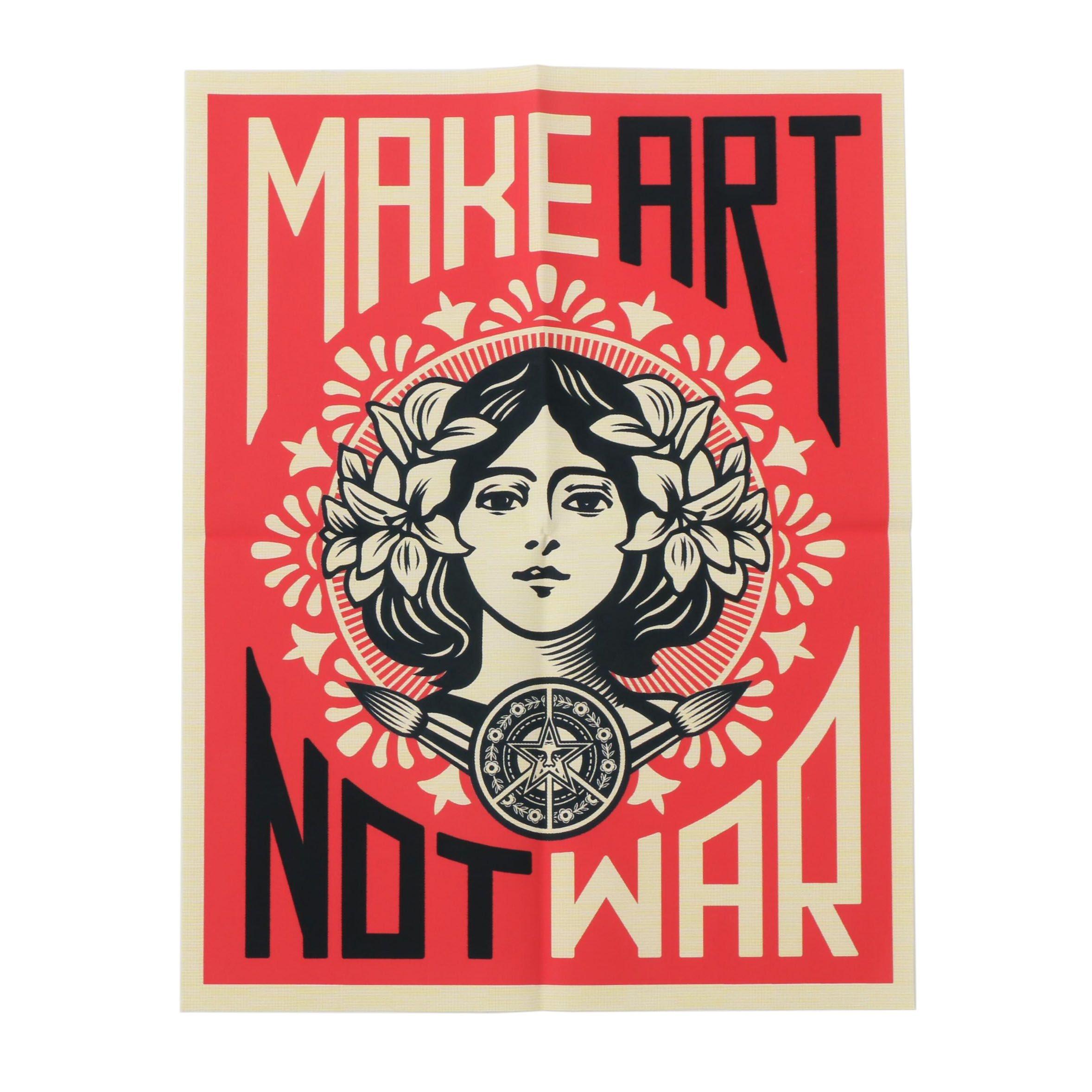 """Giclee After Shepard Fairey """"Make Art Not War"""""""