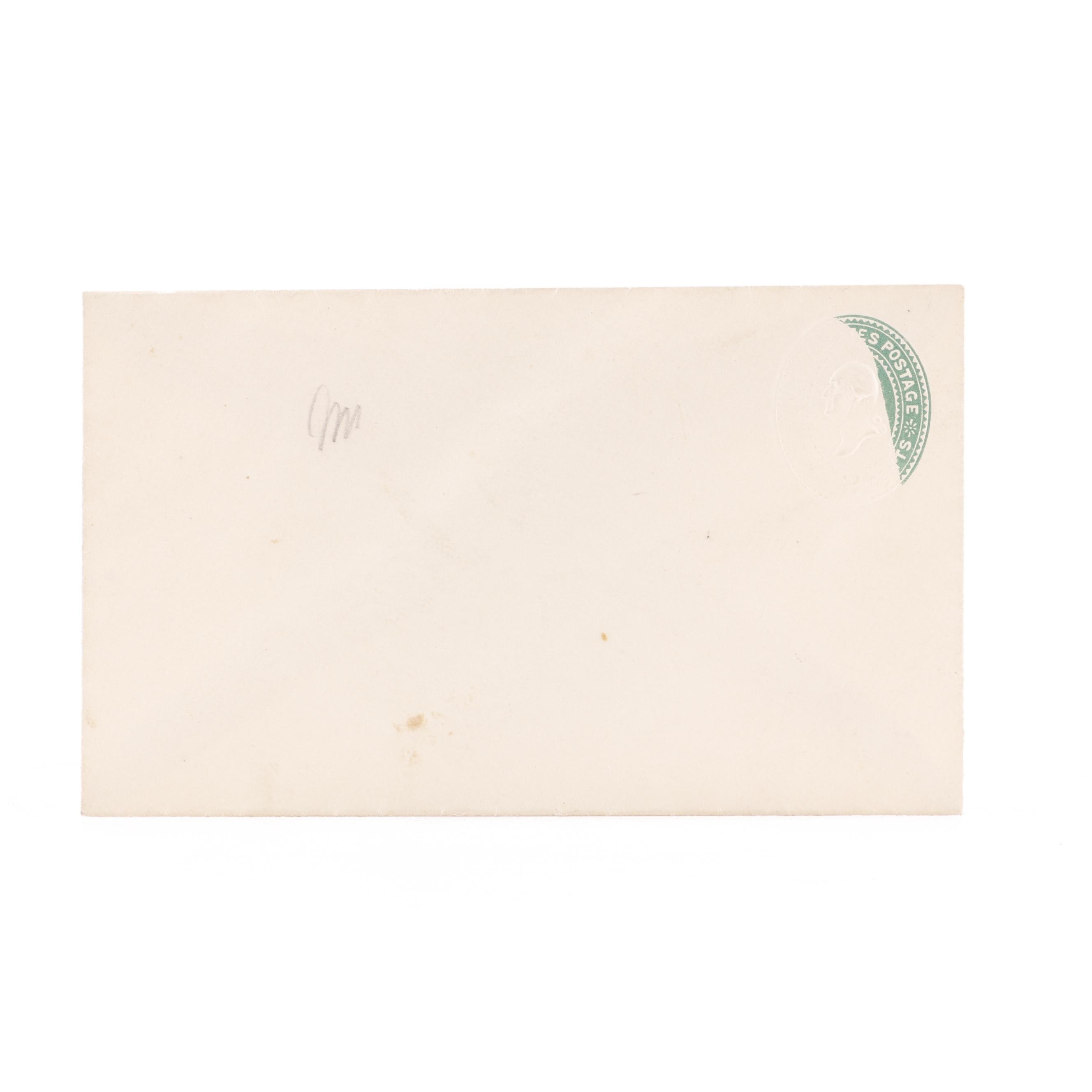 Antique Envelope with Postal Stamp Error