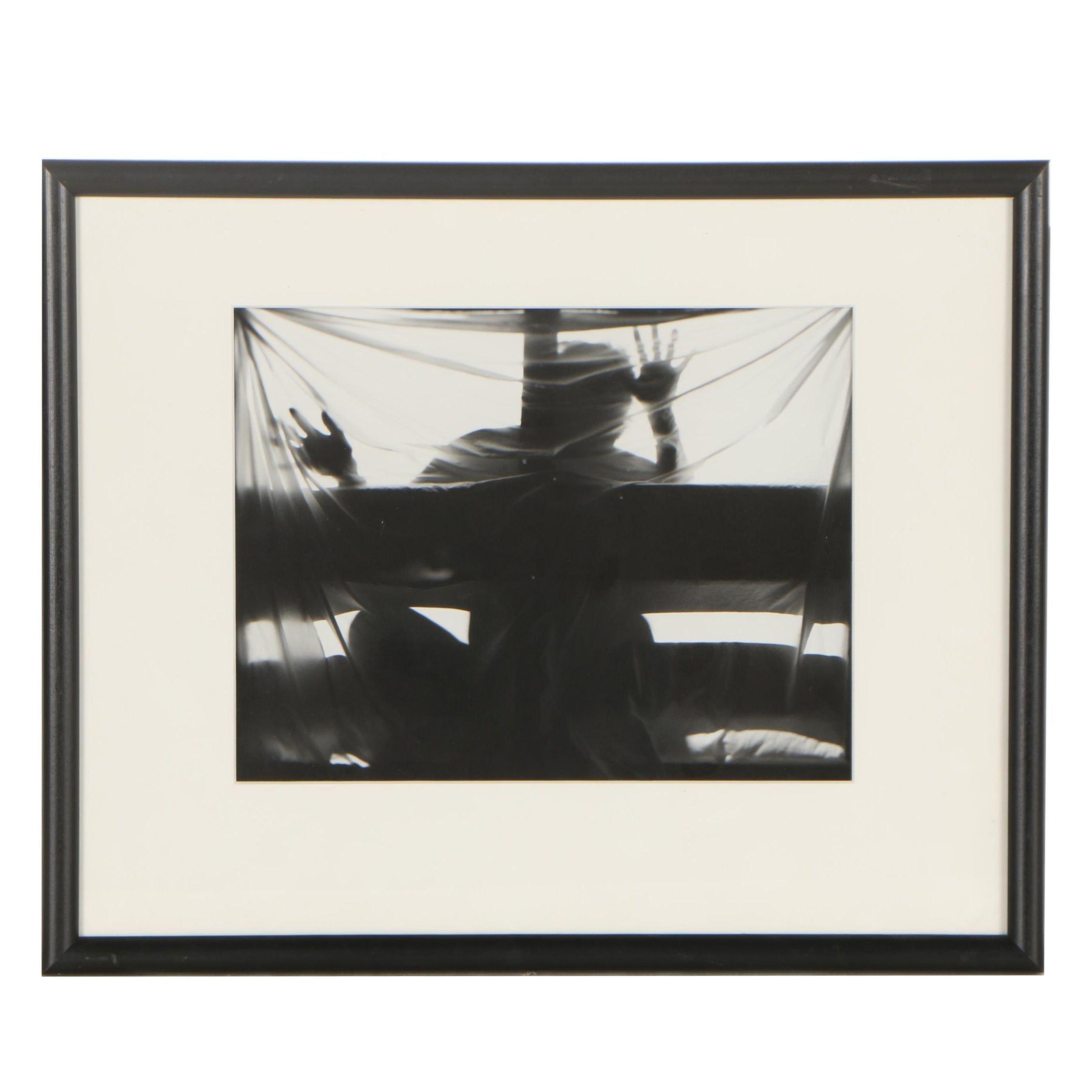 "Mitchell Wiebell Silver Gelatin Print ""Figure Abstraction #4"""