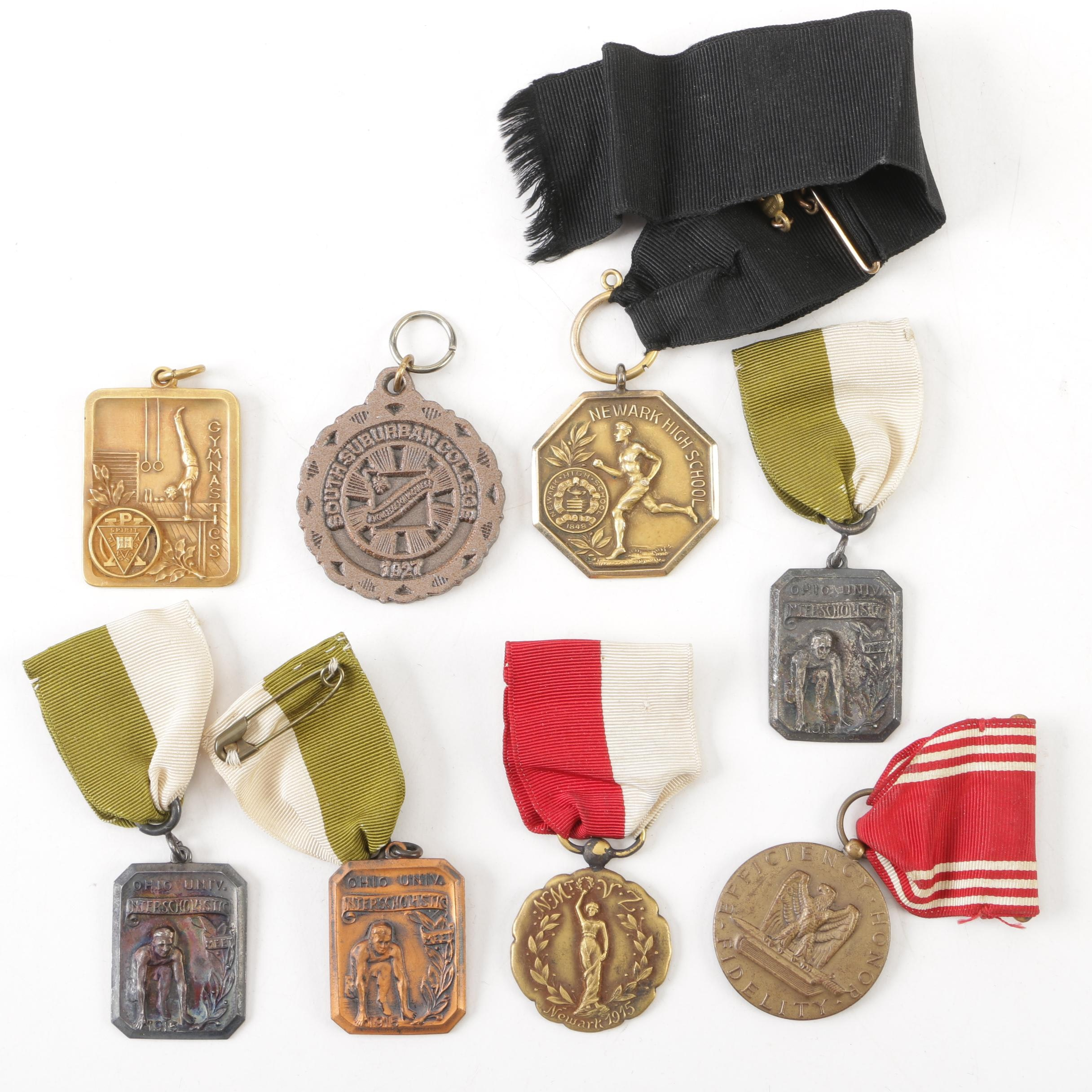 Vintage Sports Medals, 20th Century