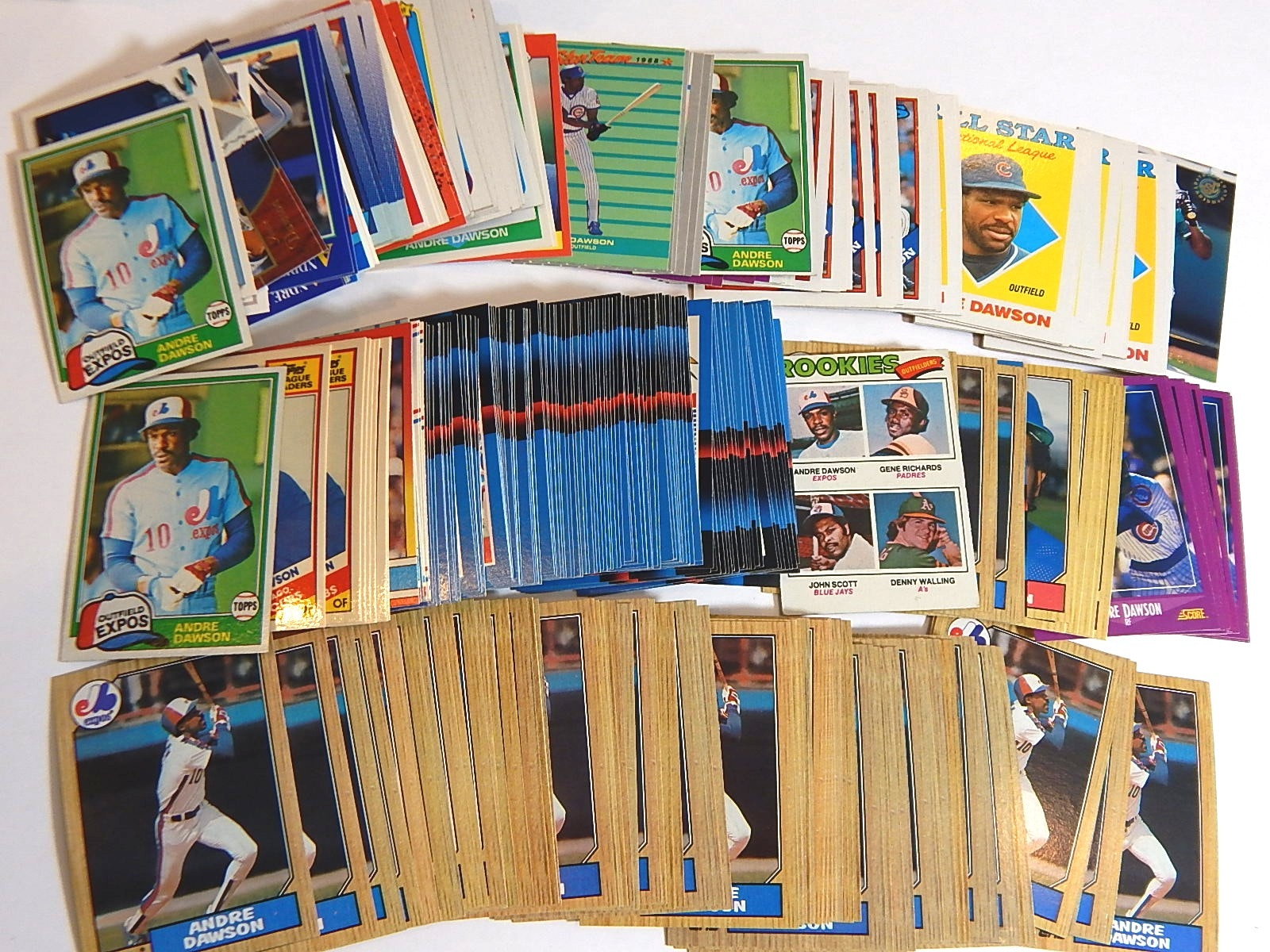 Around 300 HOF Andre Dawson Baseball Cards with 1977 Rookie Card #473